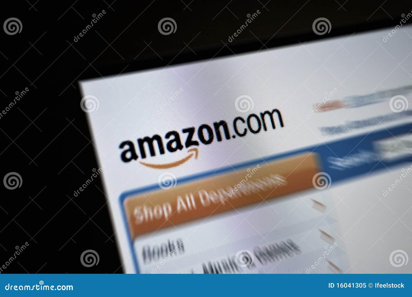 De paginaInternet van Amazon.com het hoofdscherm