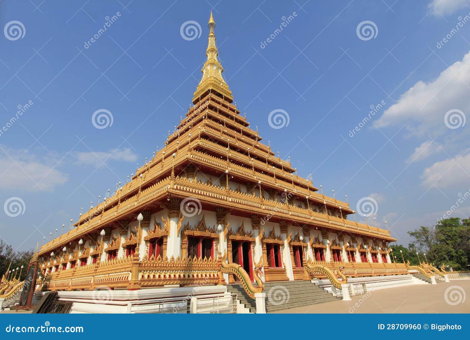 De pagode in Wat Nongwang, Khon kaen Thailand