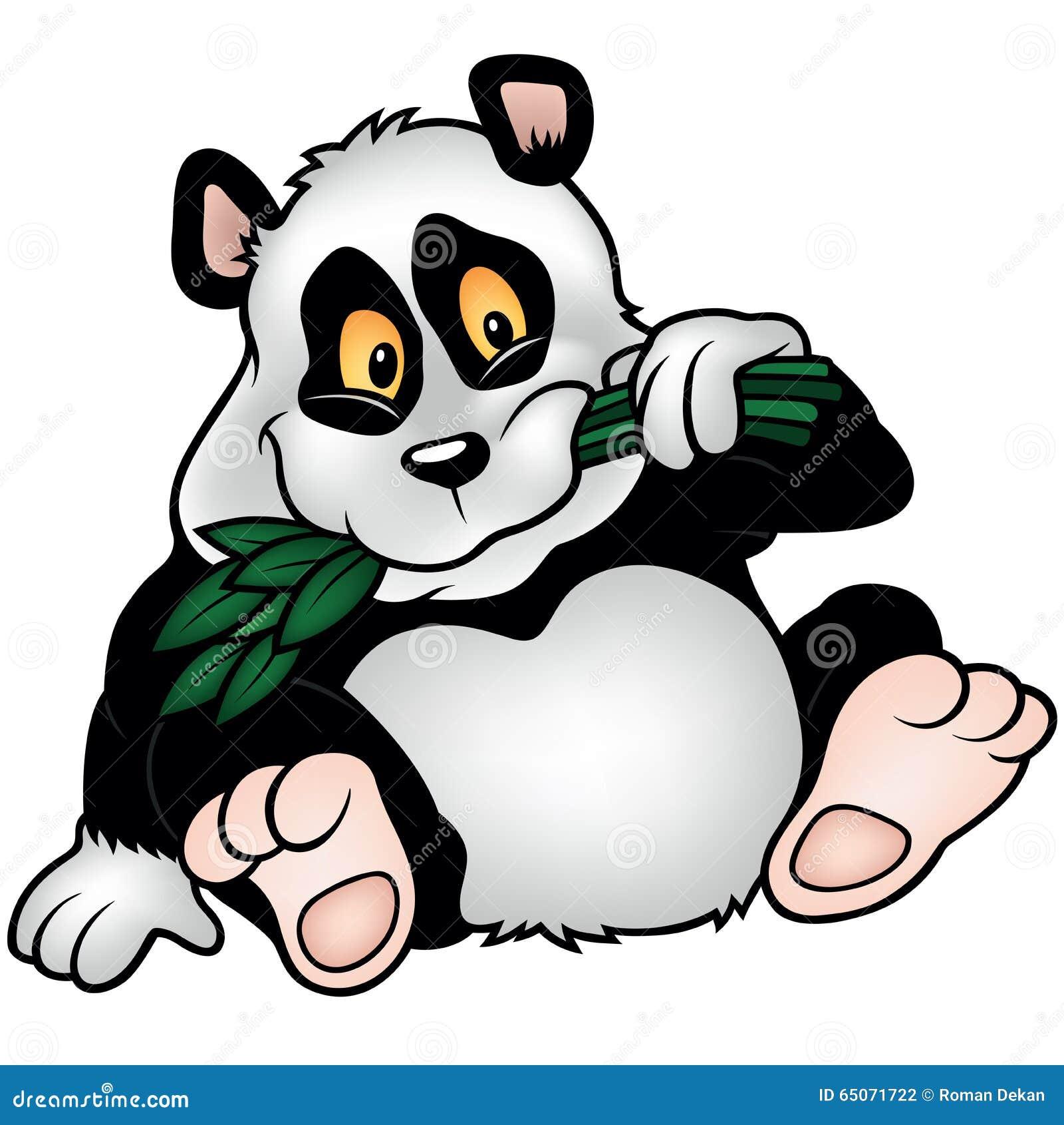 De panda draagt met de Tak van het Bamboe