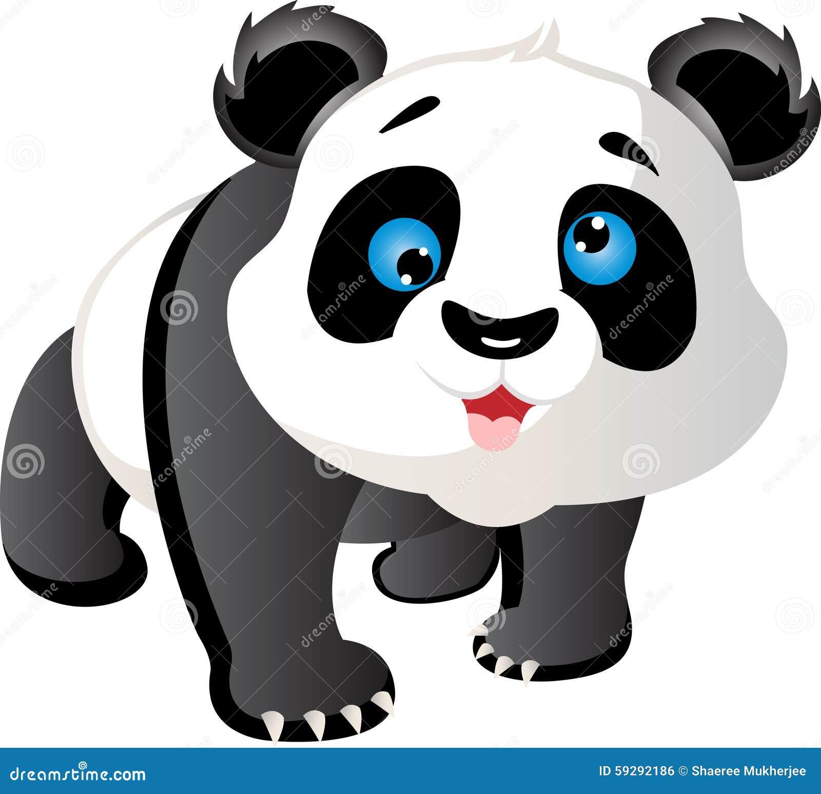 De panda van het beeldverhaal