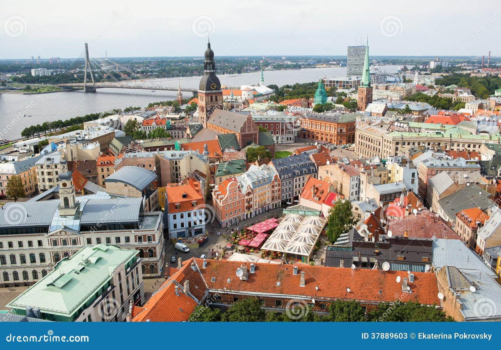 De panoramamening van Riga