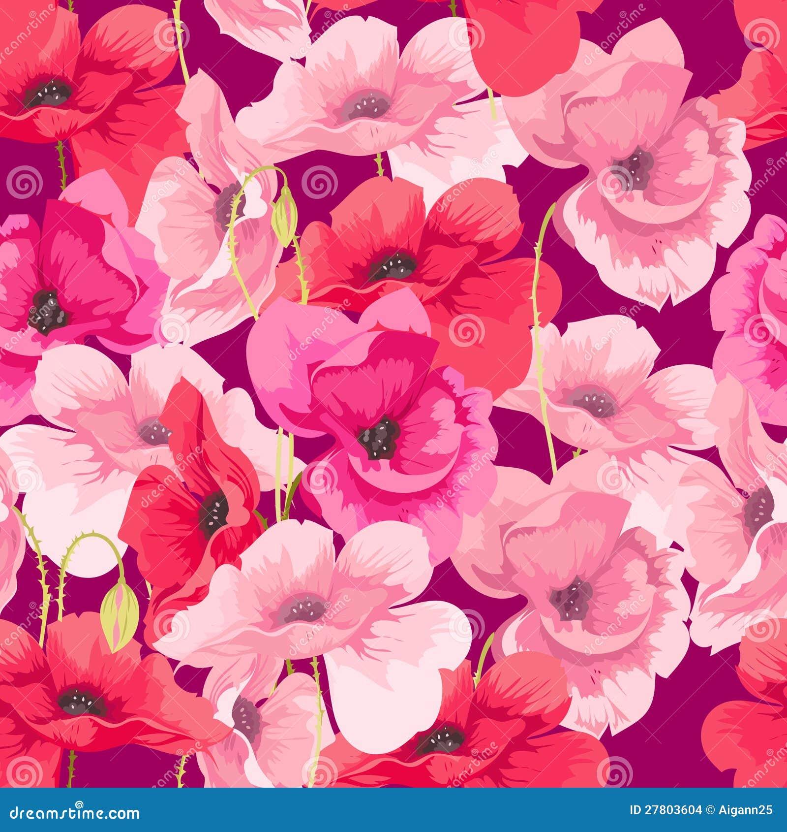 De papavers van bloemen