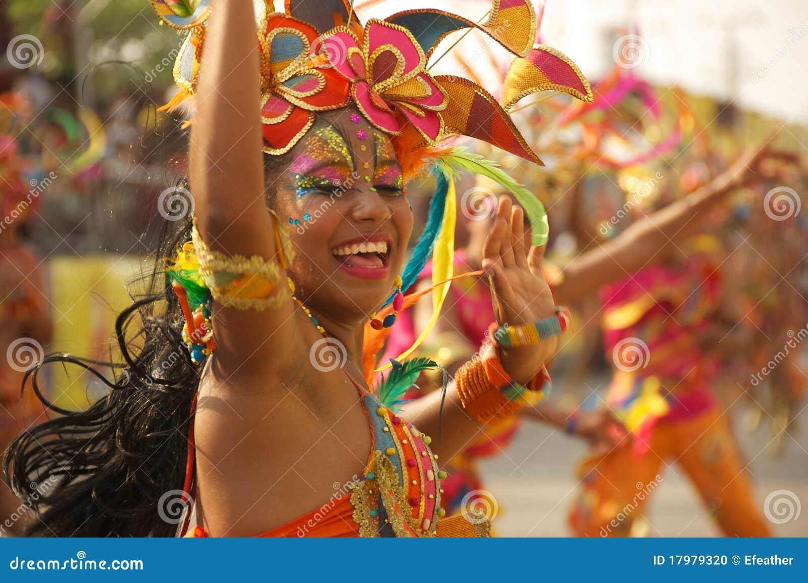 De parade van Carnaval in Barranquilla, Colombia
