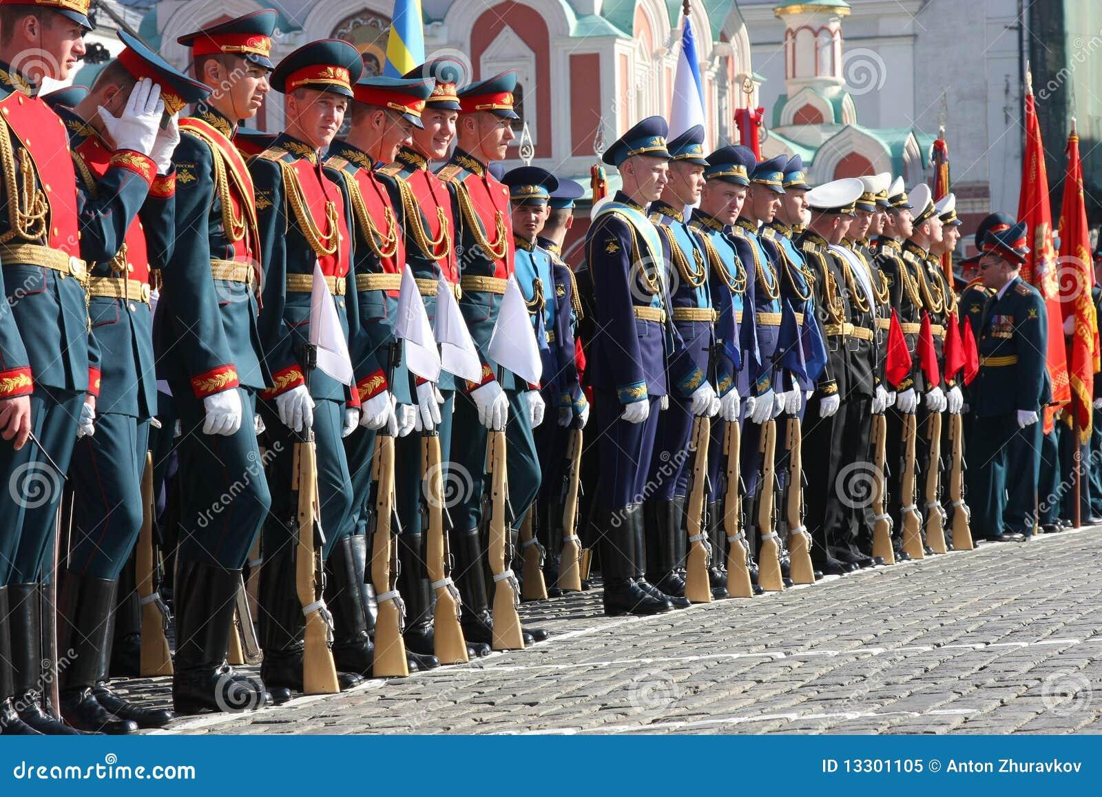 De parade van de overwinning