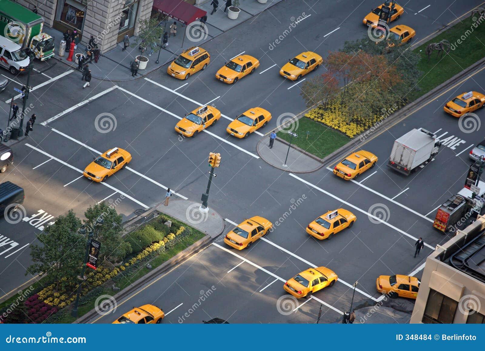 De parade van de taxi