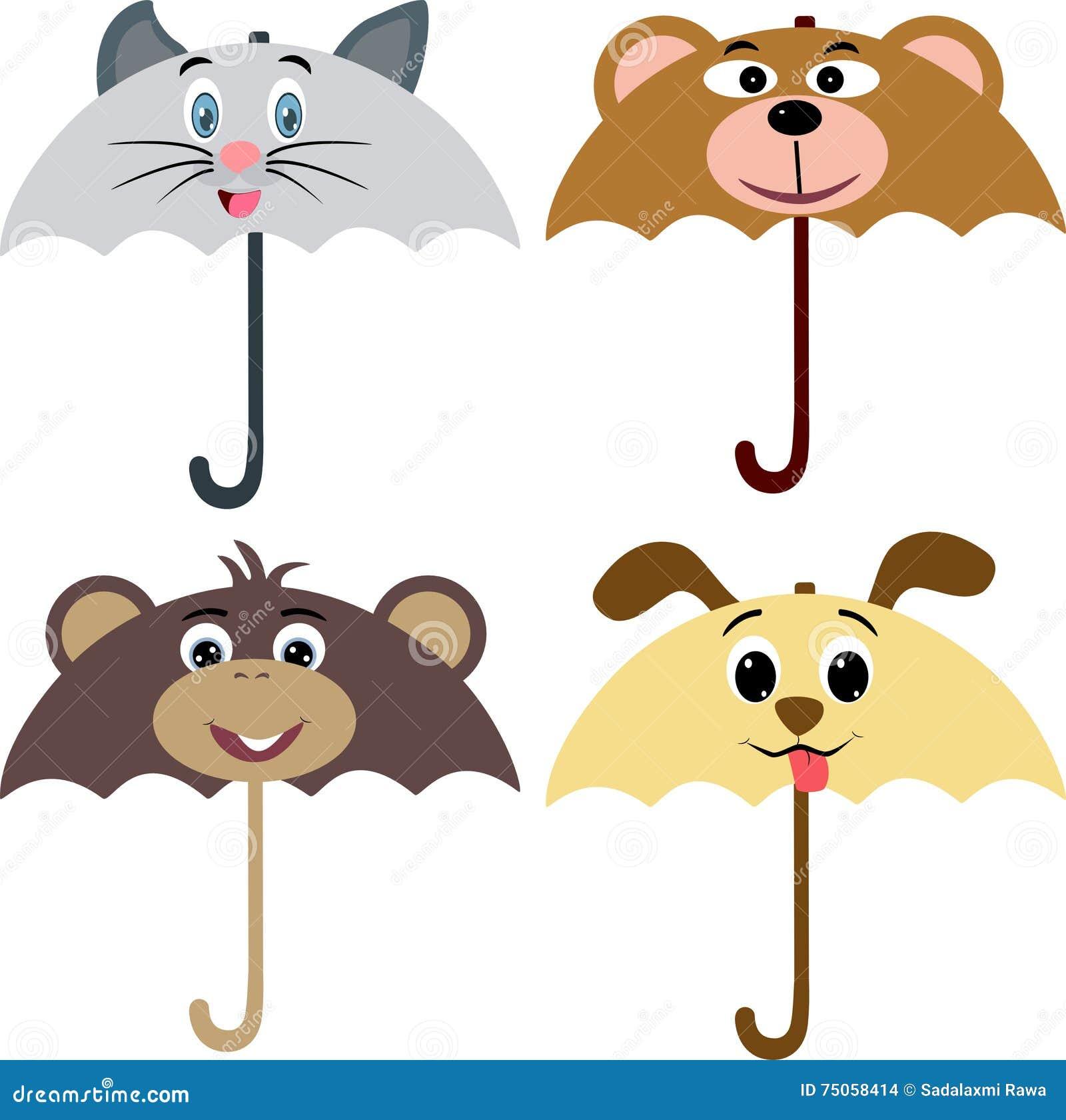 De Paraplu van het dierenontwerp