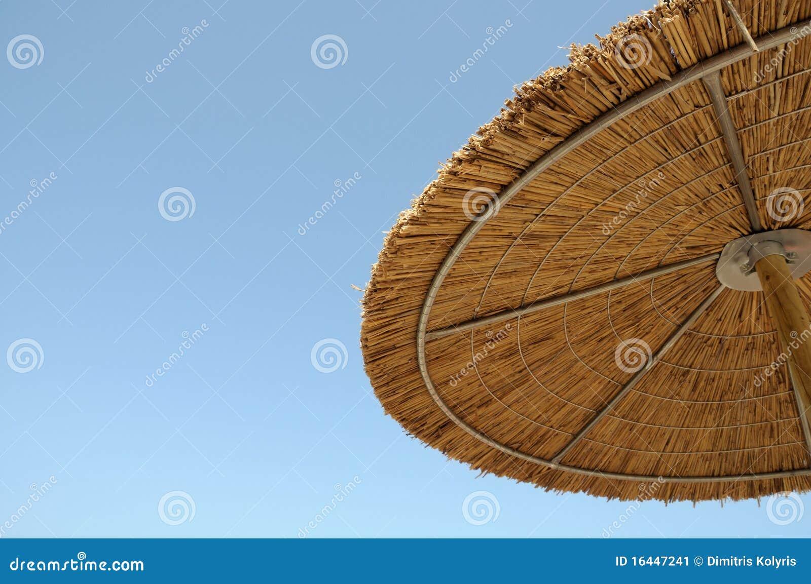 De parasol van het stro stock afbeelding afbeelding 16447241 - Zon parasol ...