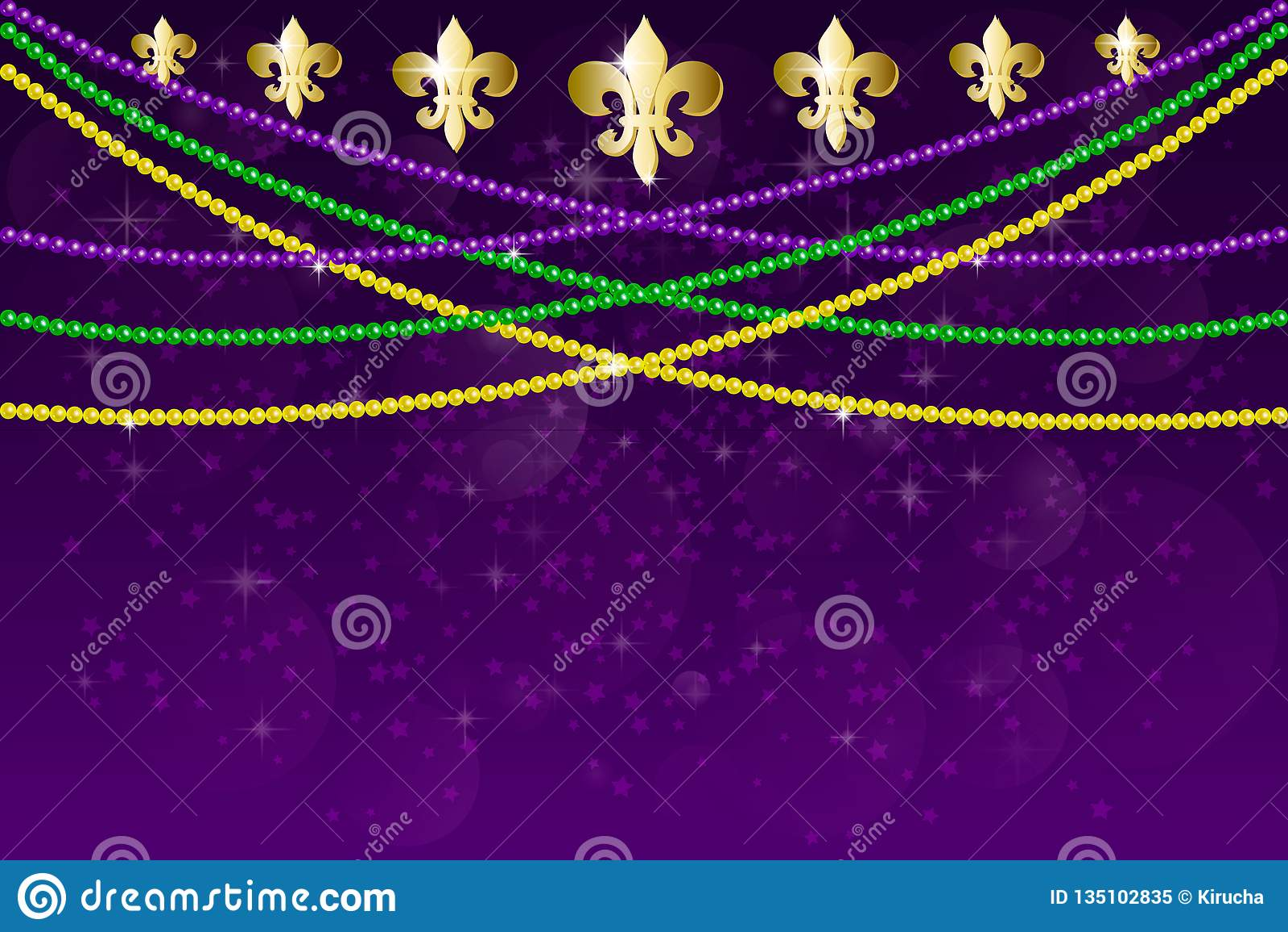 De partijontwerp van Carnaval van Mardigras