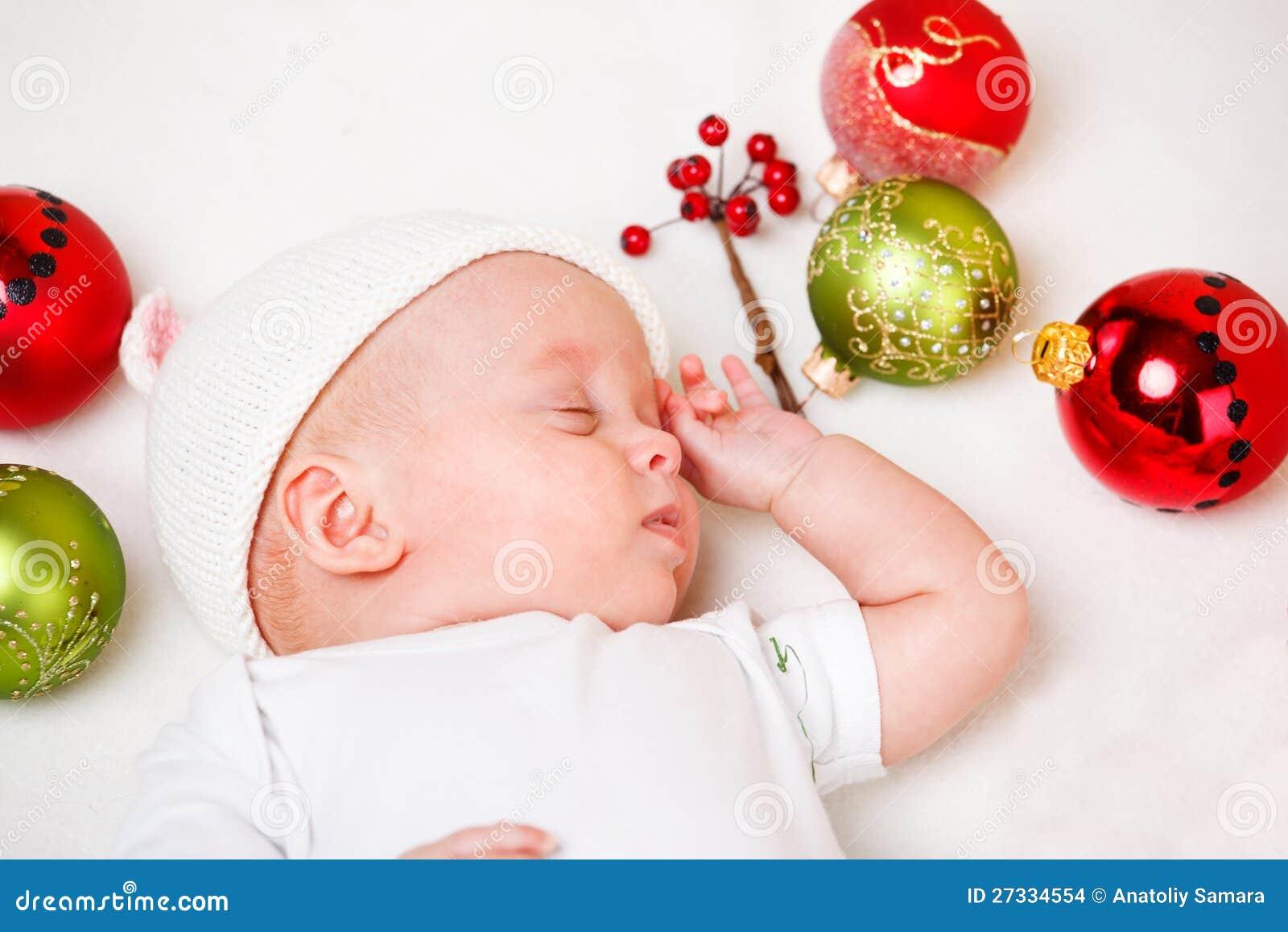 De pasgeboren baby van Kerstmis