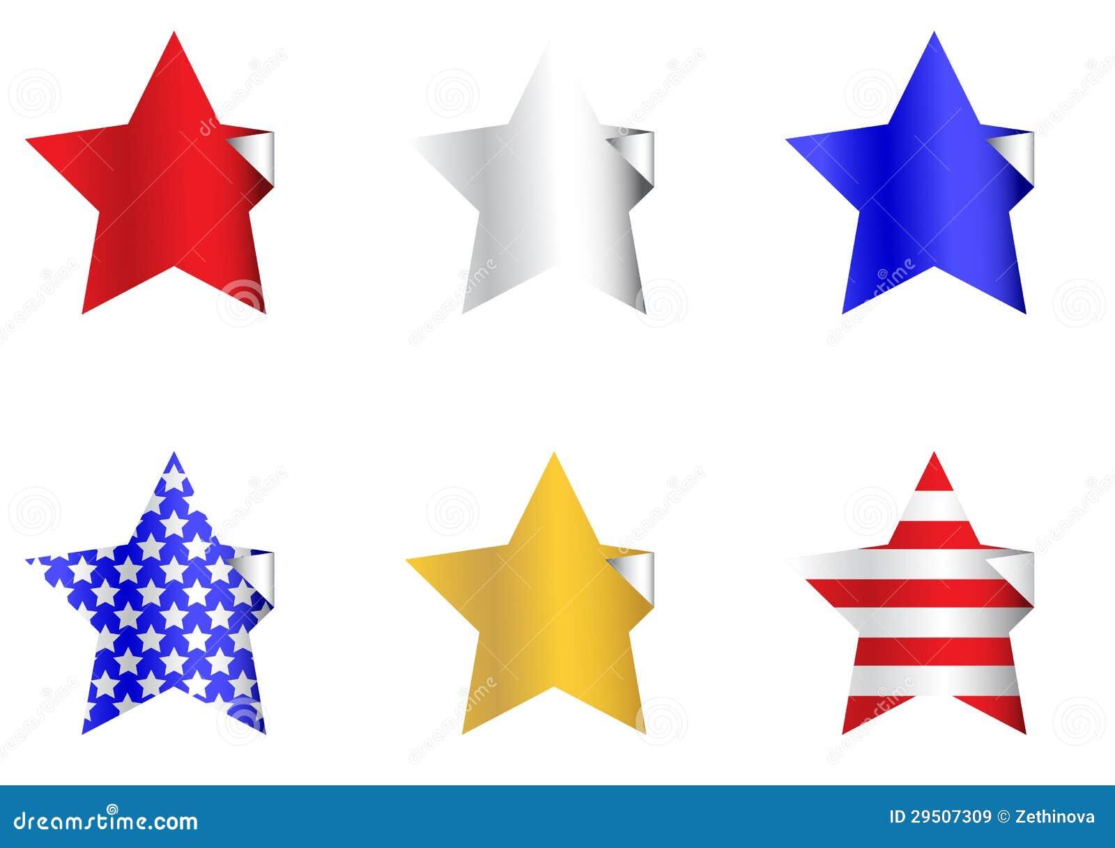 De patriottische Stickers van de Ster