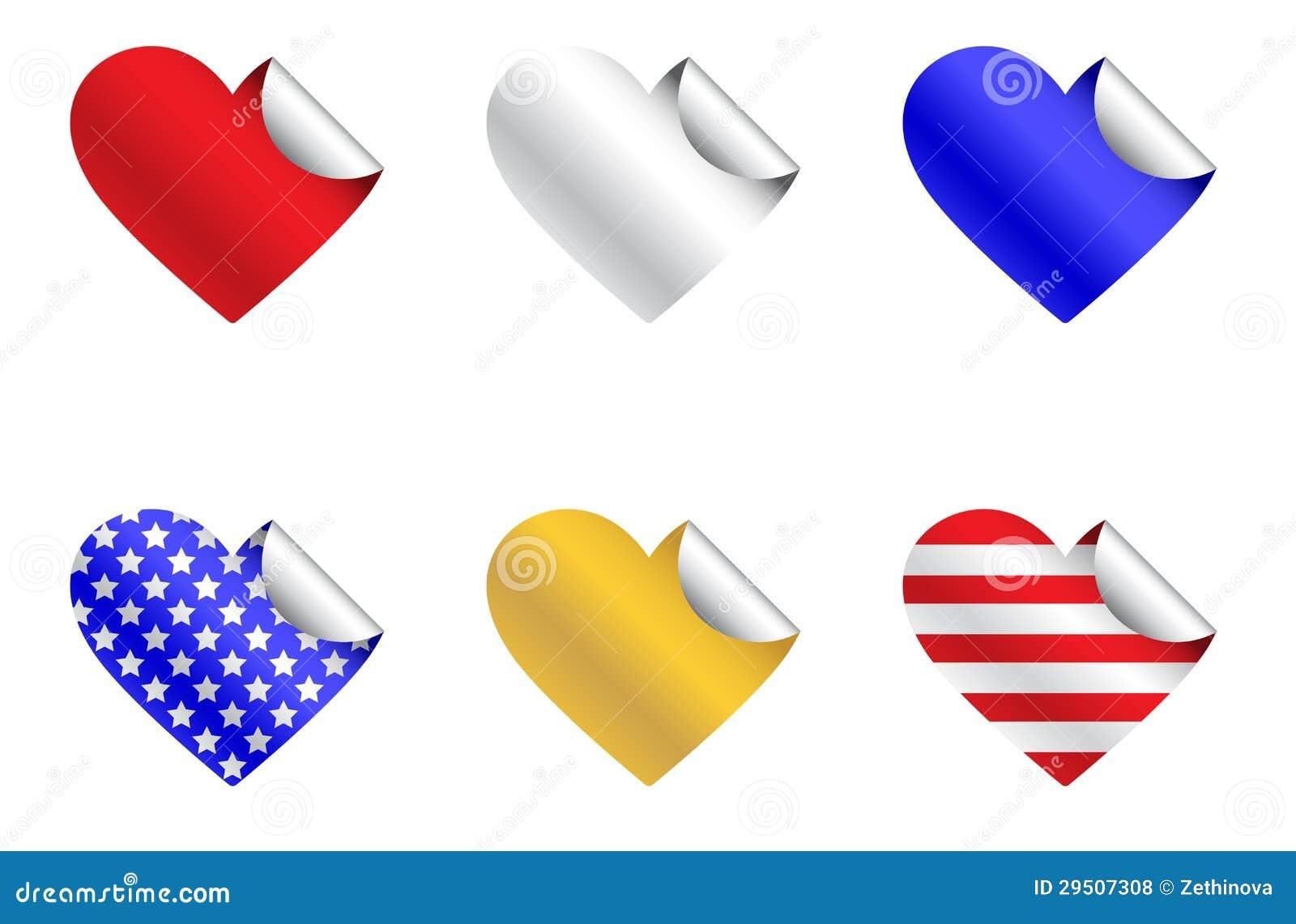 De patriottische Stickers van het Hart
