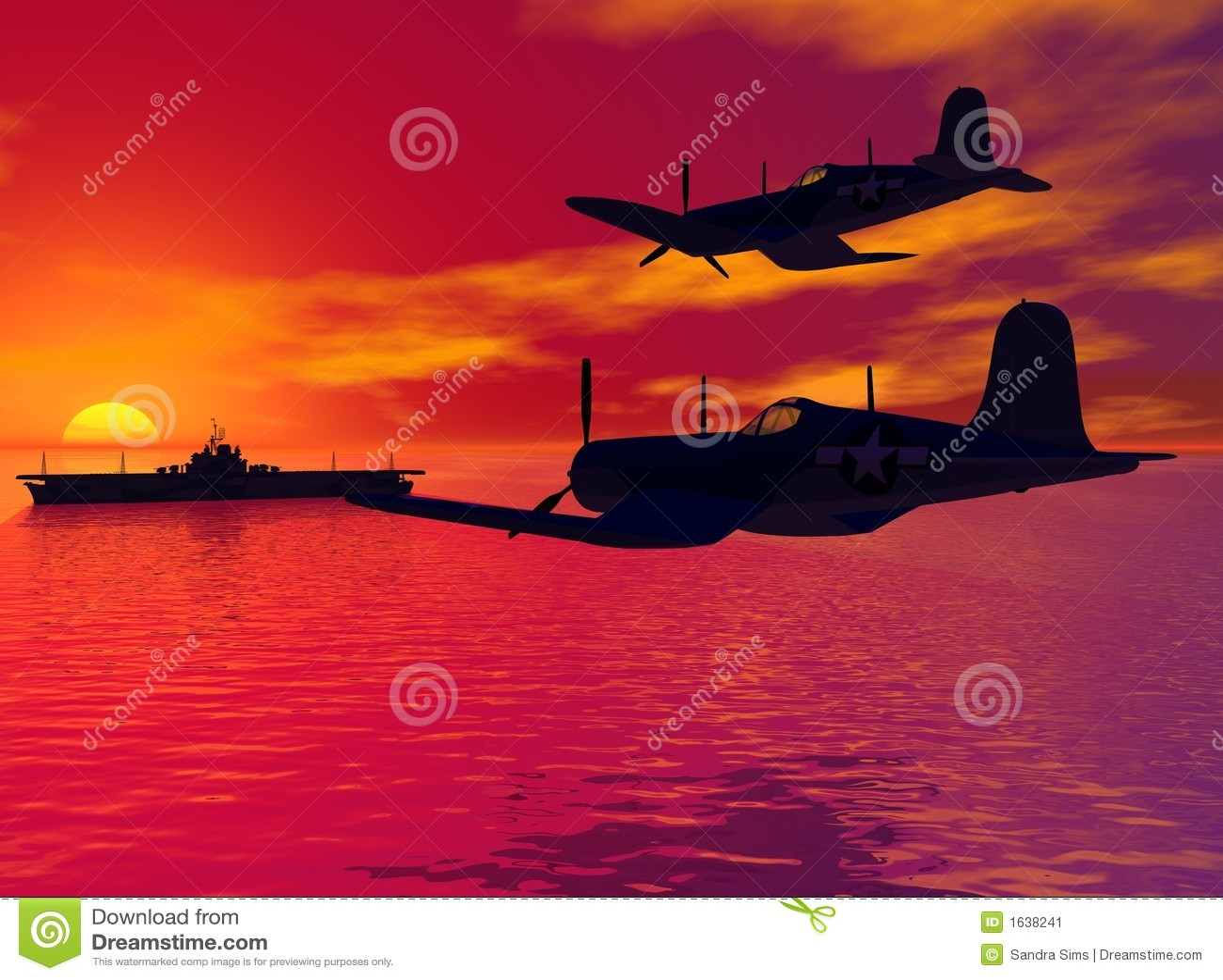 De Patrouille van de zonsondergang