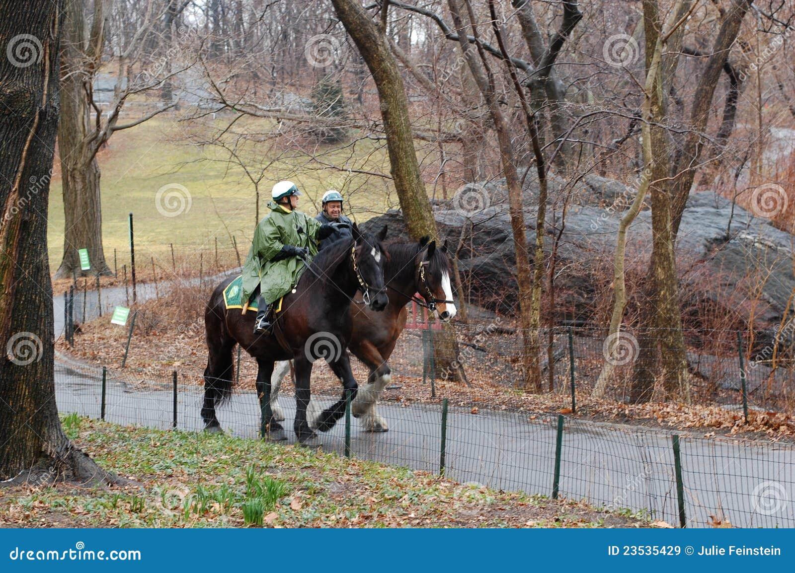De Patrouille van het Paard van het Central Park