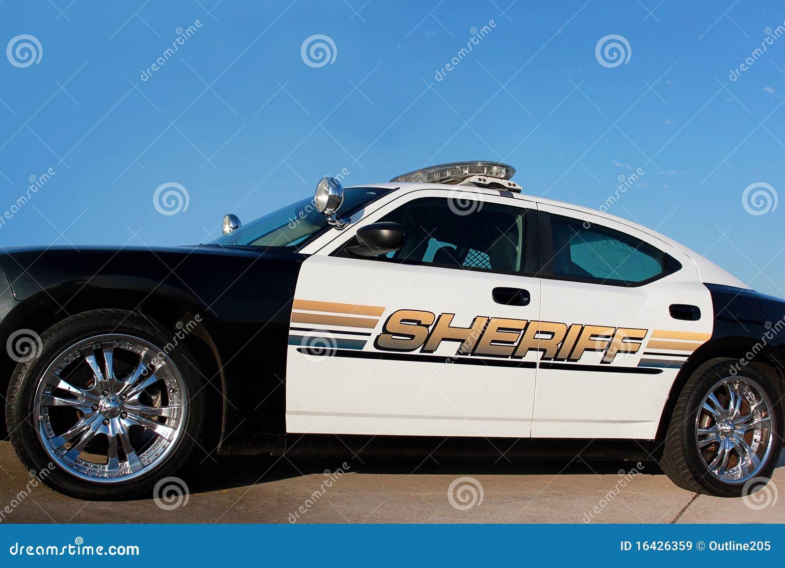 De patrouillewagen van de sheriff