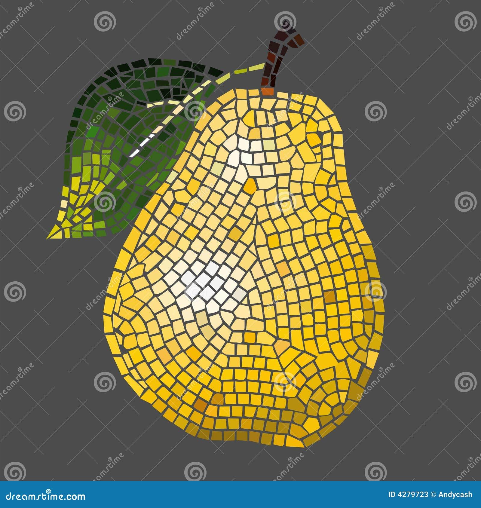 De peer van het mozaïek