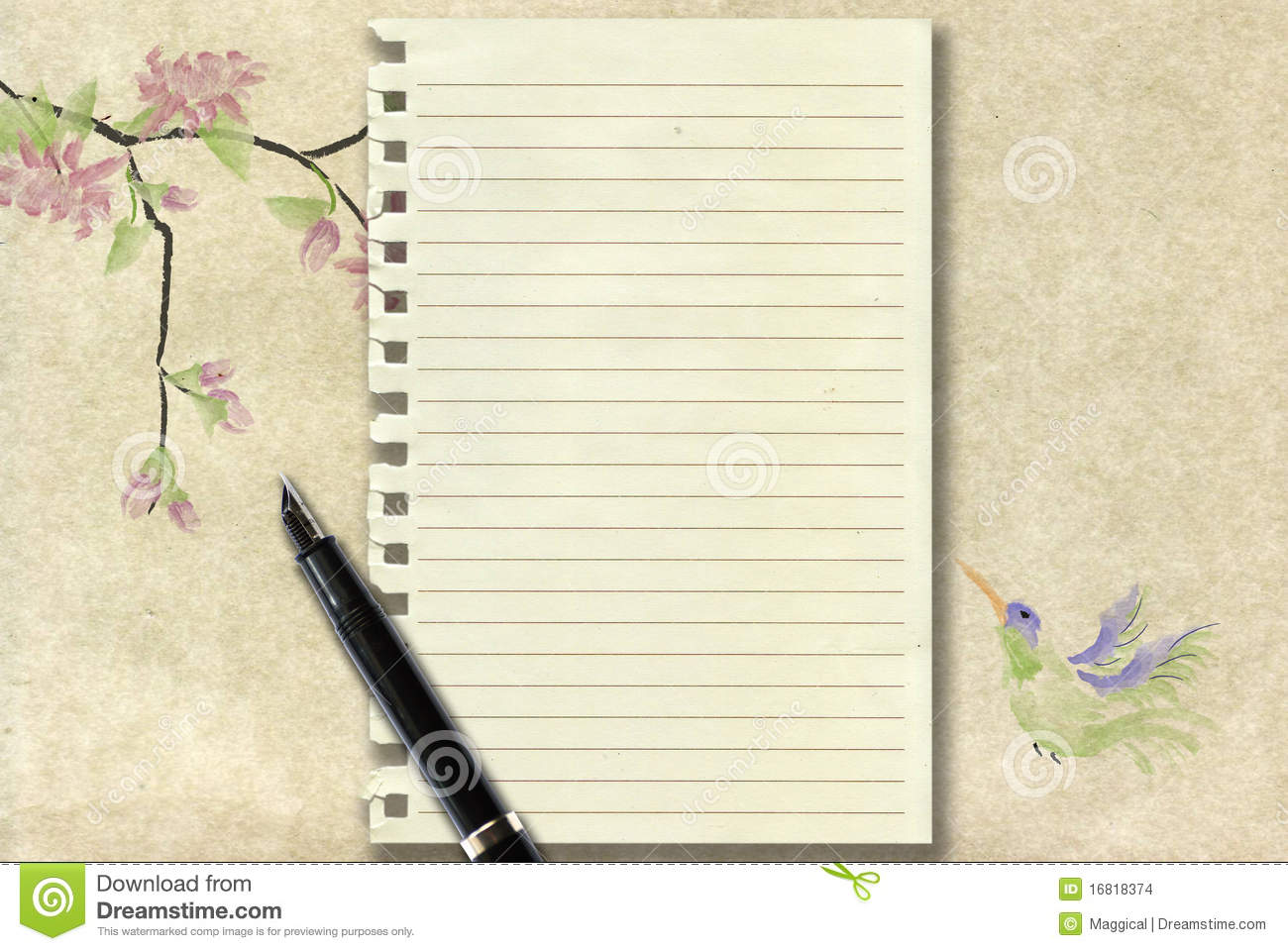 Primary Dashed Writing Paper with 1 Lines  Student Handouts