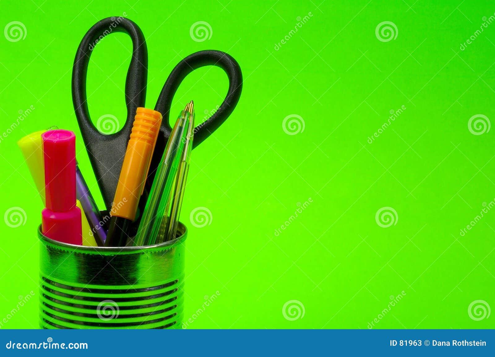 De pennen kunnen binnen