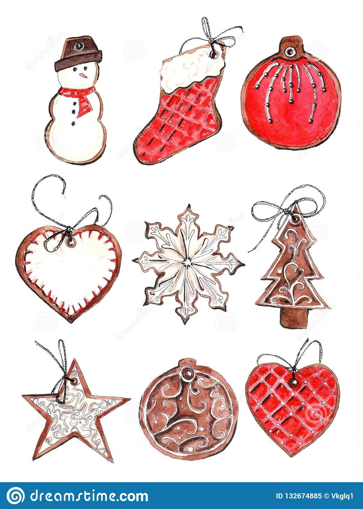 De peperkoekkoekjes van Kerstmis