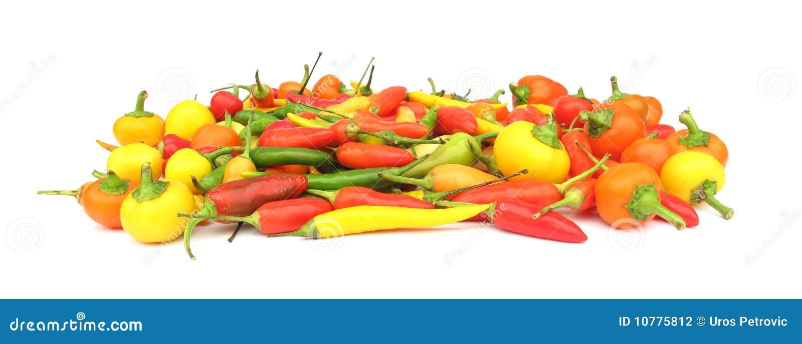 De peperpaprika van de Spaanse peper