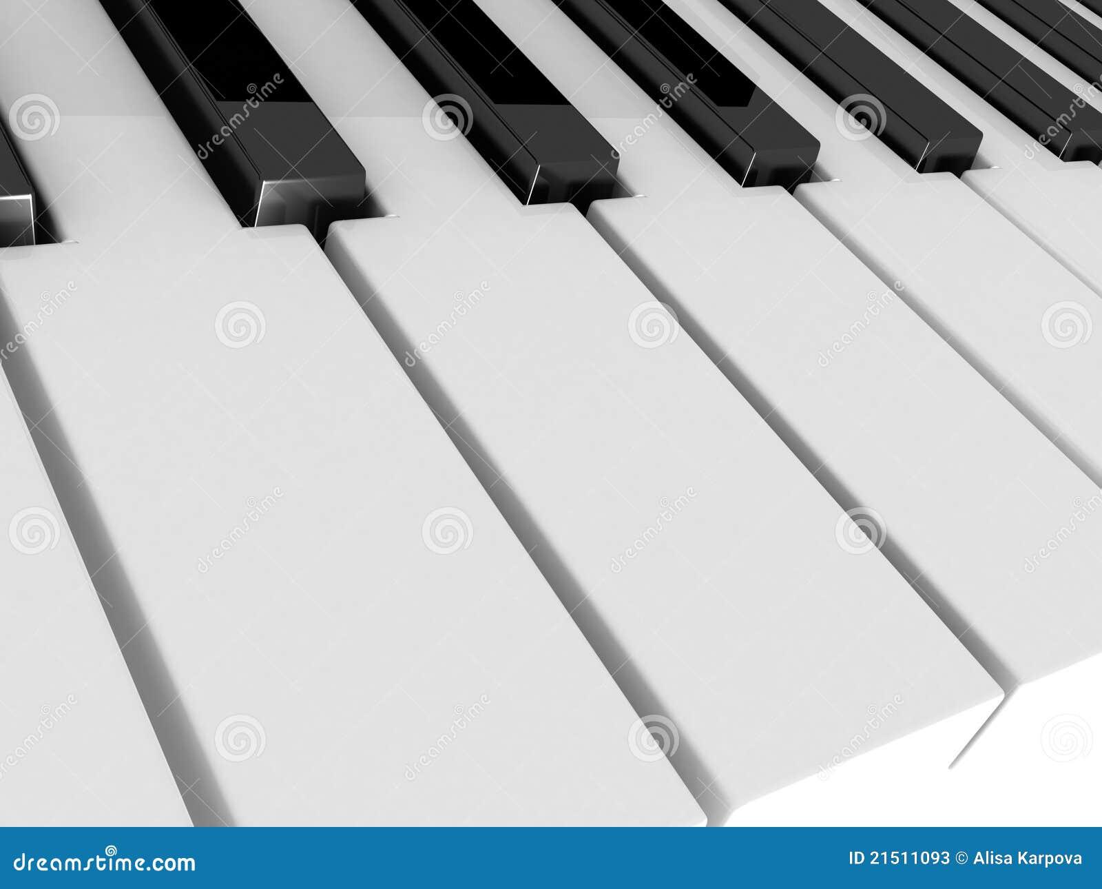 De piano sluit zwart-wit