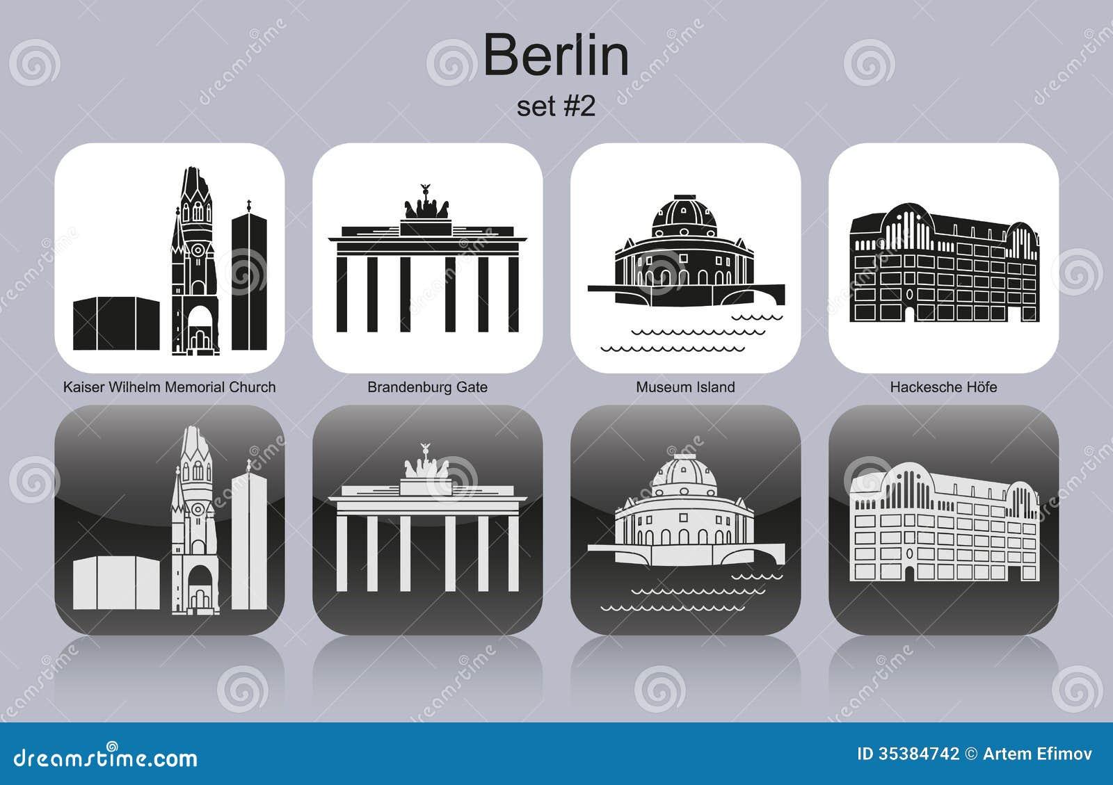 De pictogrammen van Berlijn