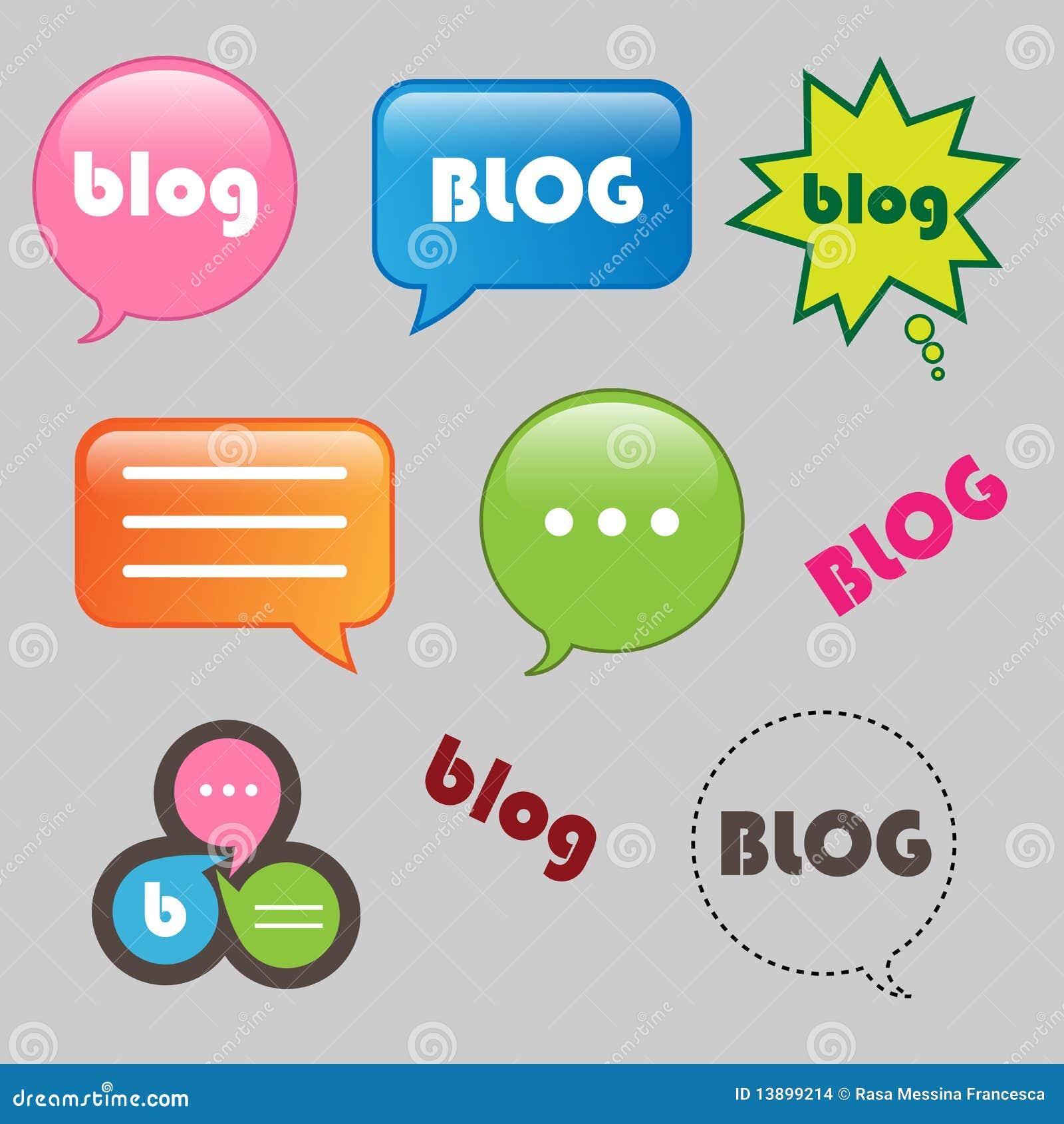De pictogrammen van Blog
