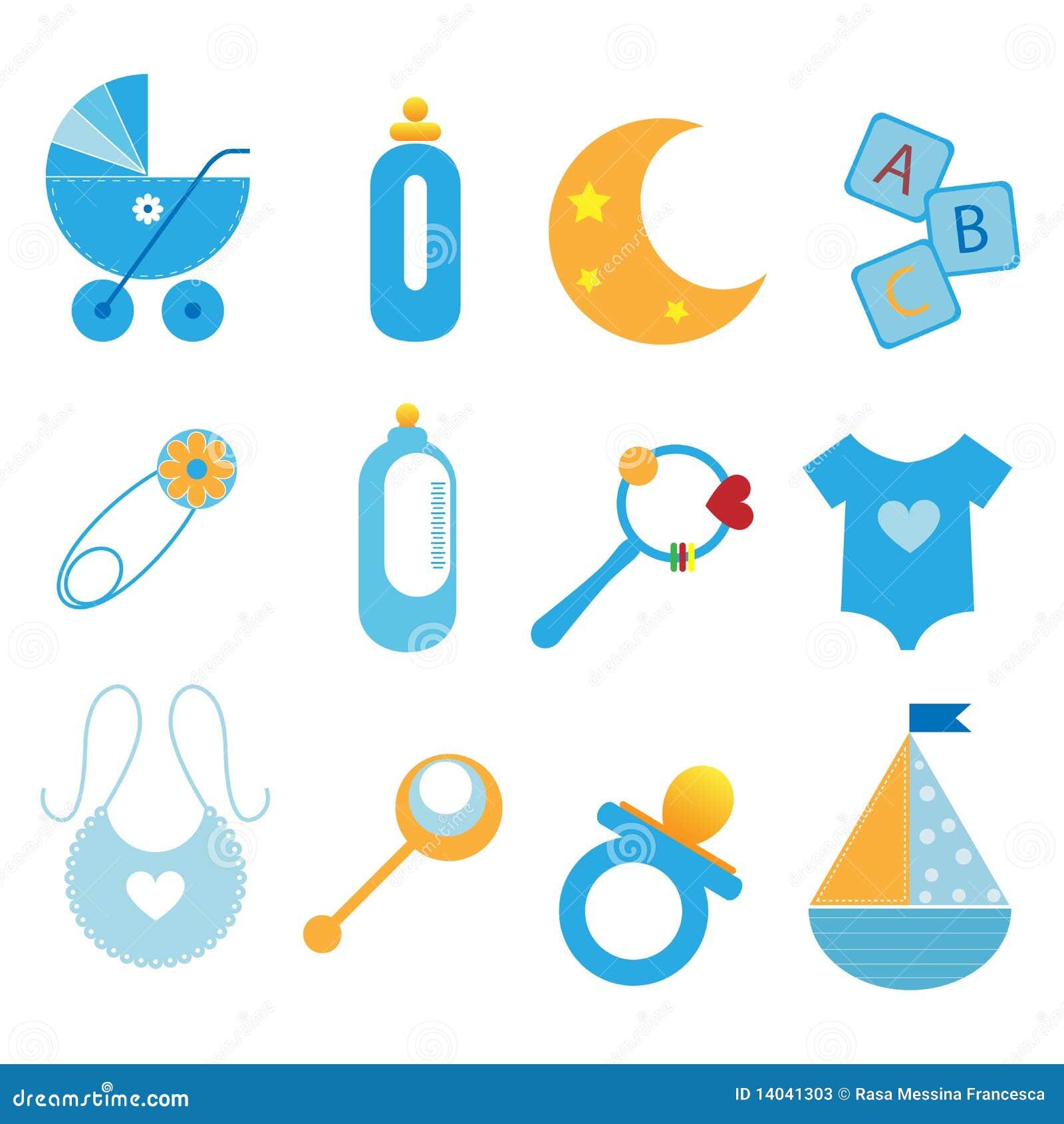 De pictogrammen van de baby jongen stock foto 39 s beeld 14041303 - Foto baby jongen ...