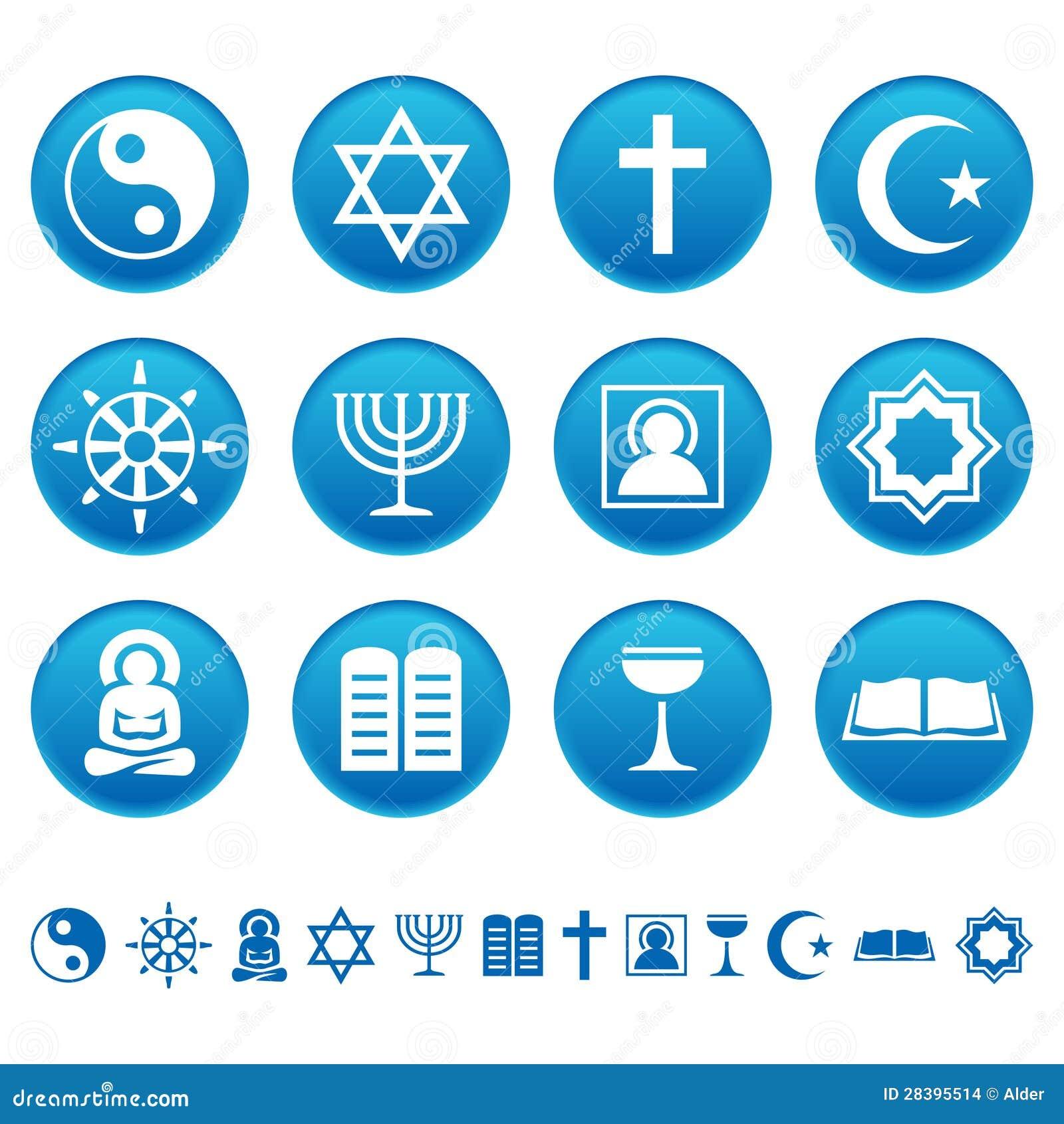De pictogrammen van de godsdienst