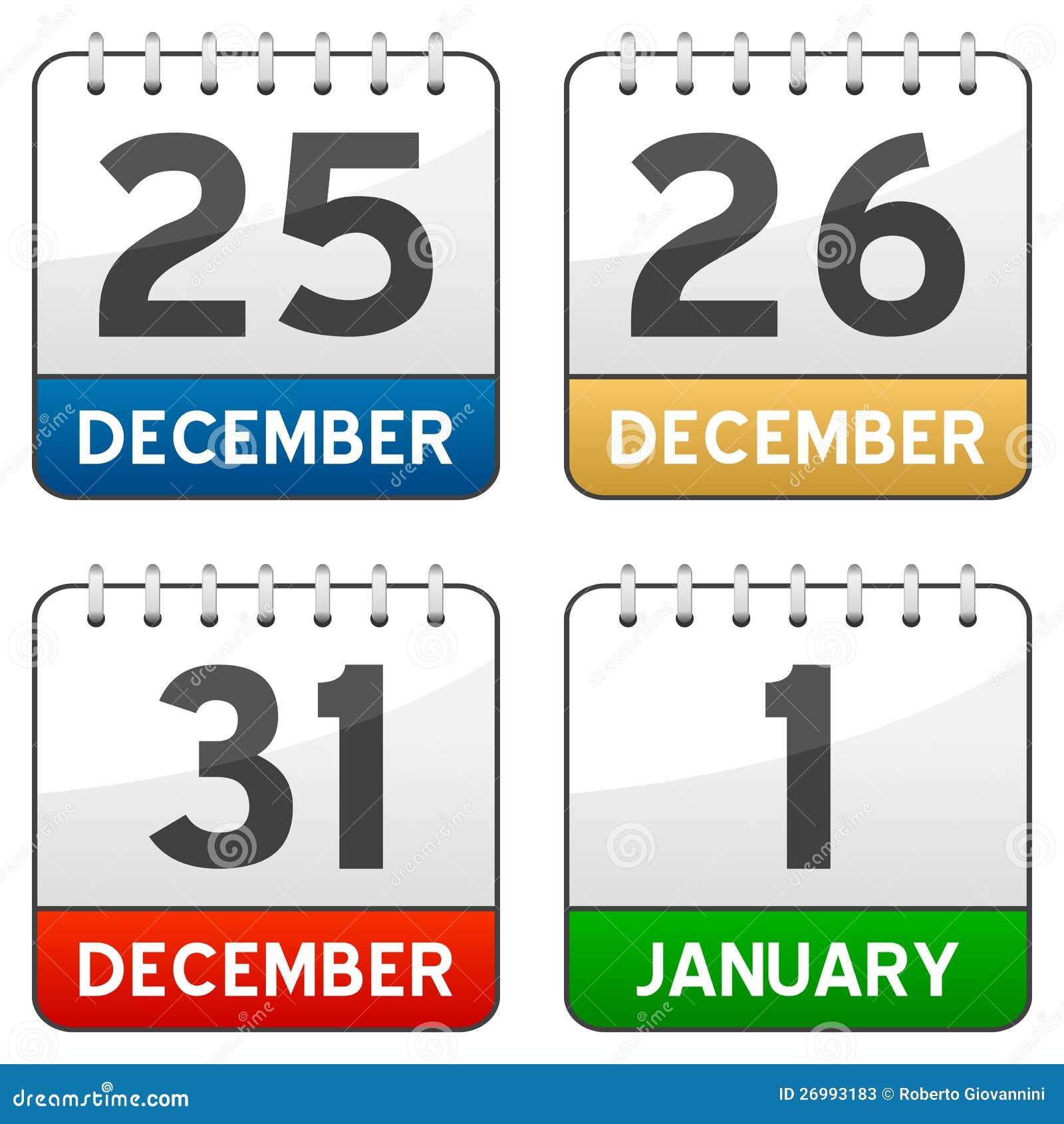 De Pictogrammen van de Kalender van de Tijd van Kerstmis