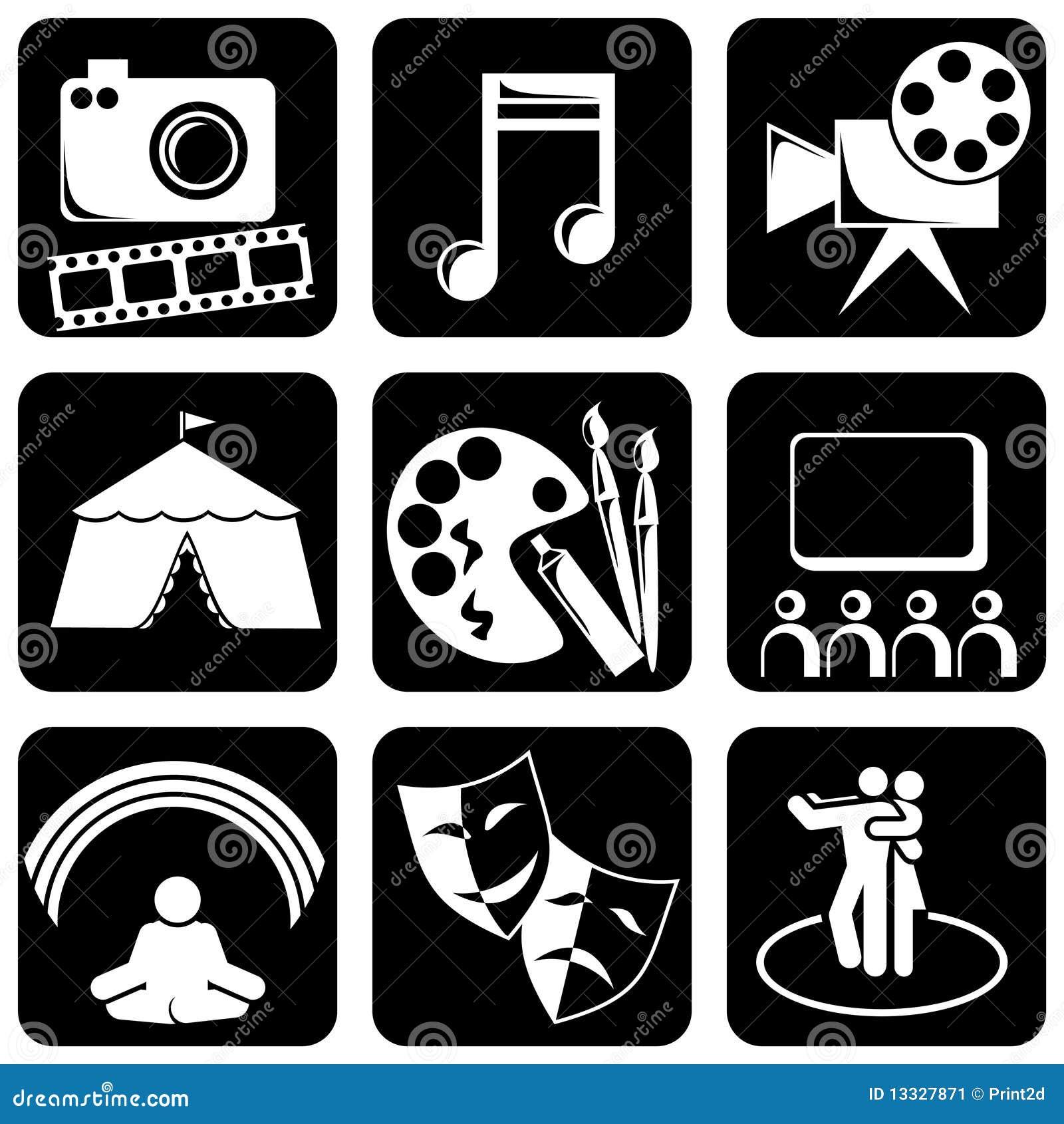 De pictogrammen van de kunst