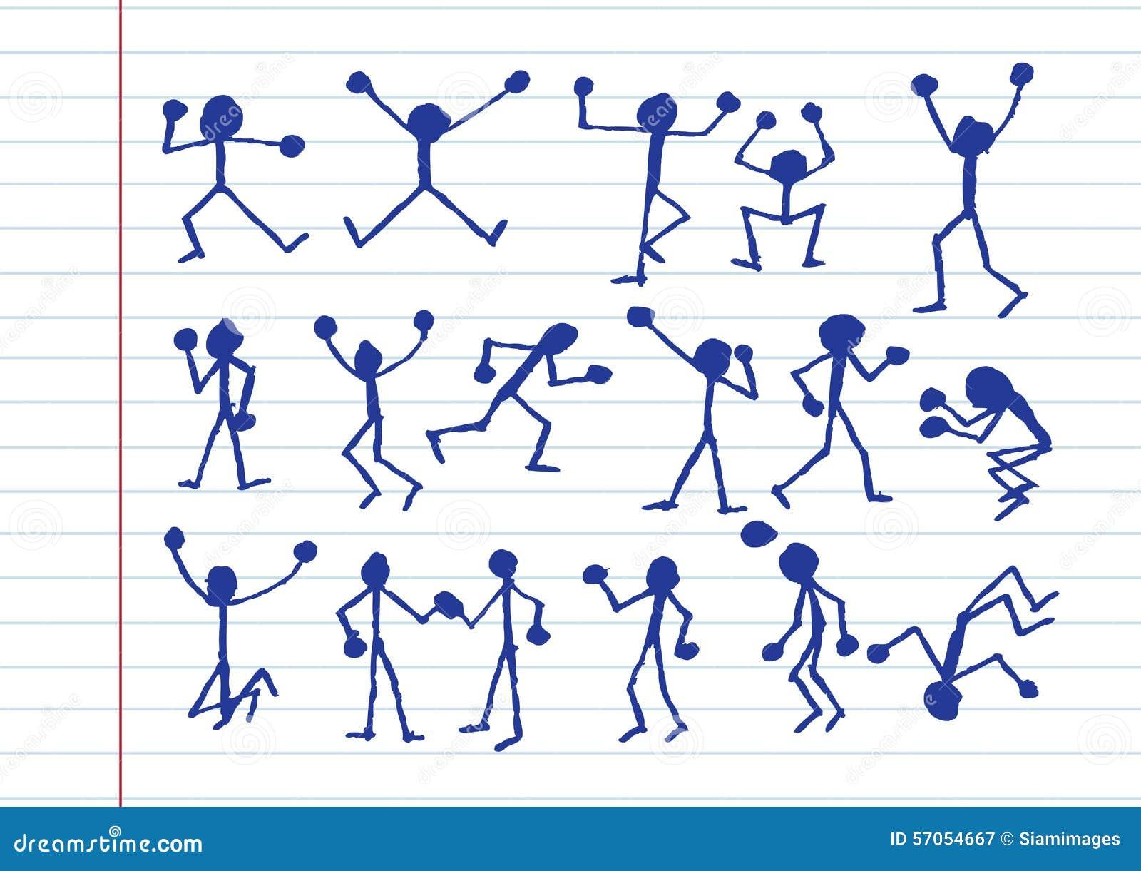 De pictogrammen van de mensenactiviteit in illustratie