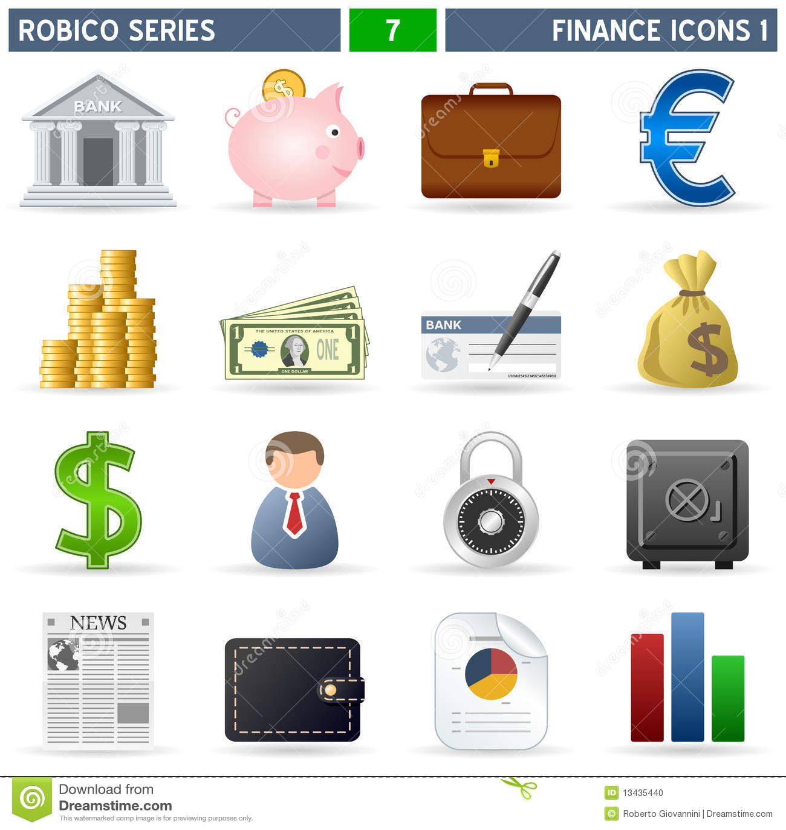 De Pictogrammen van financiën [1] - Reeks Robico