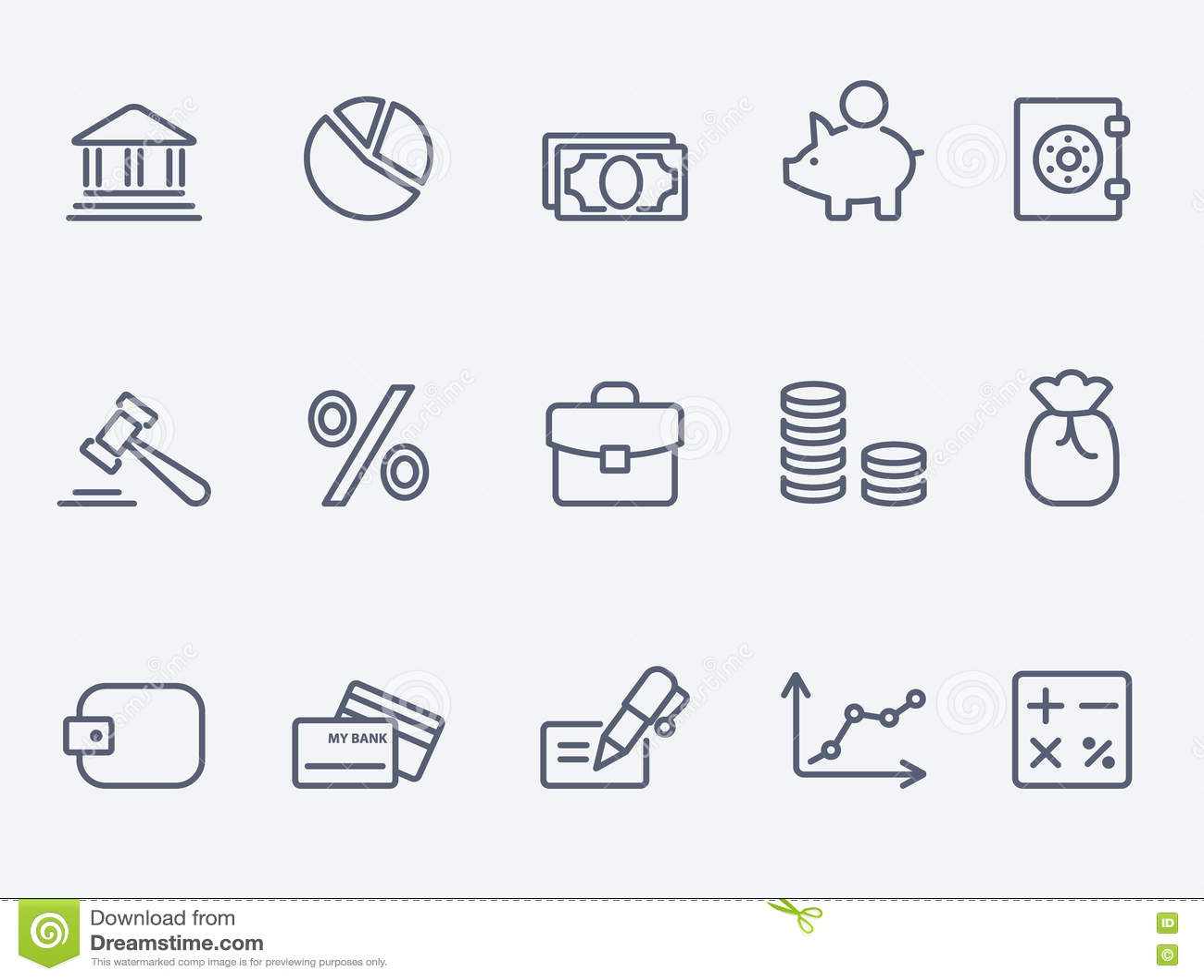 De Pictogrammen van financiën