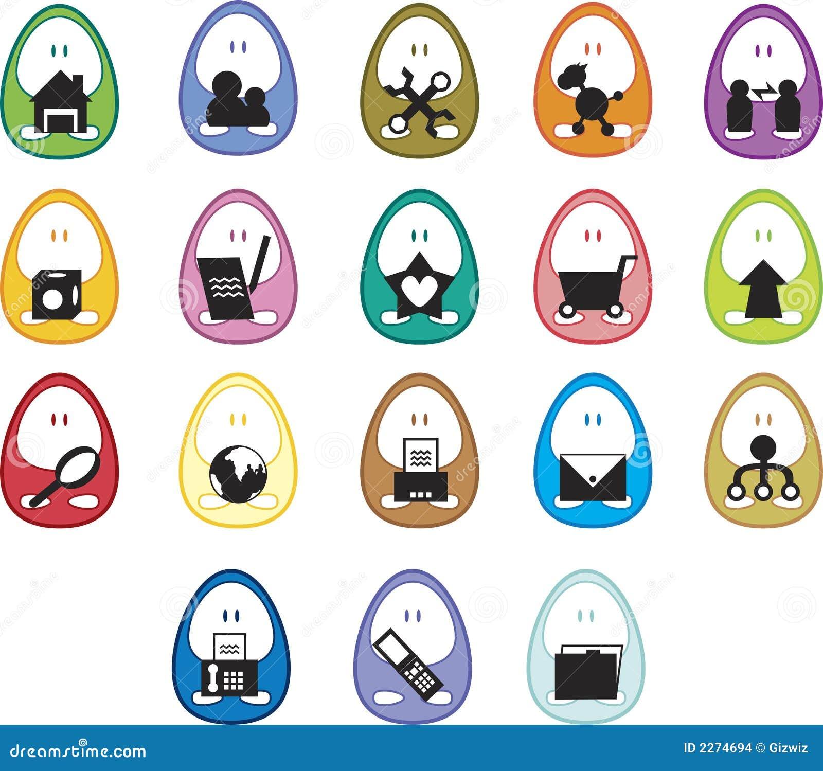 De Pictogrammen van het ei