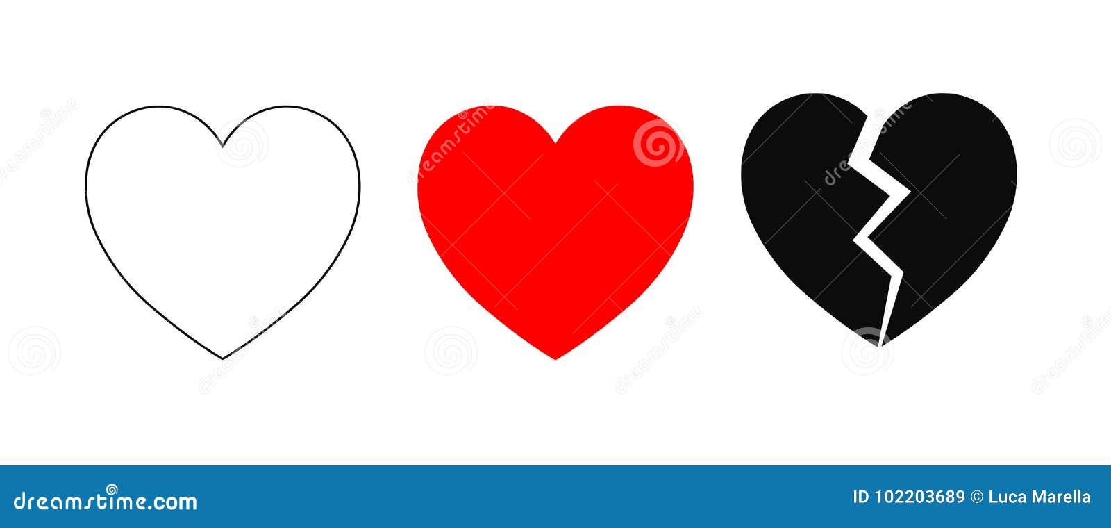 De Pictogrammen van het hart