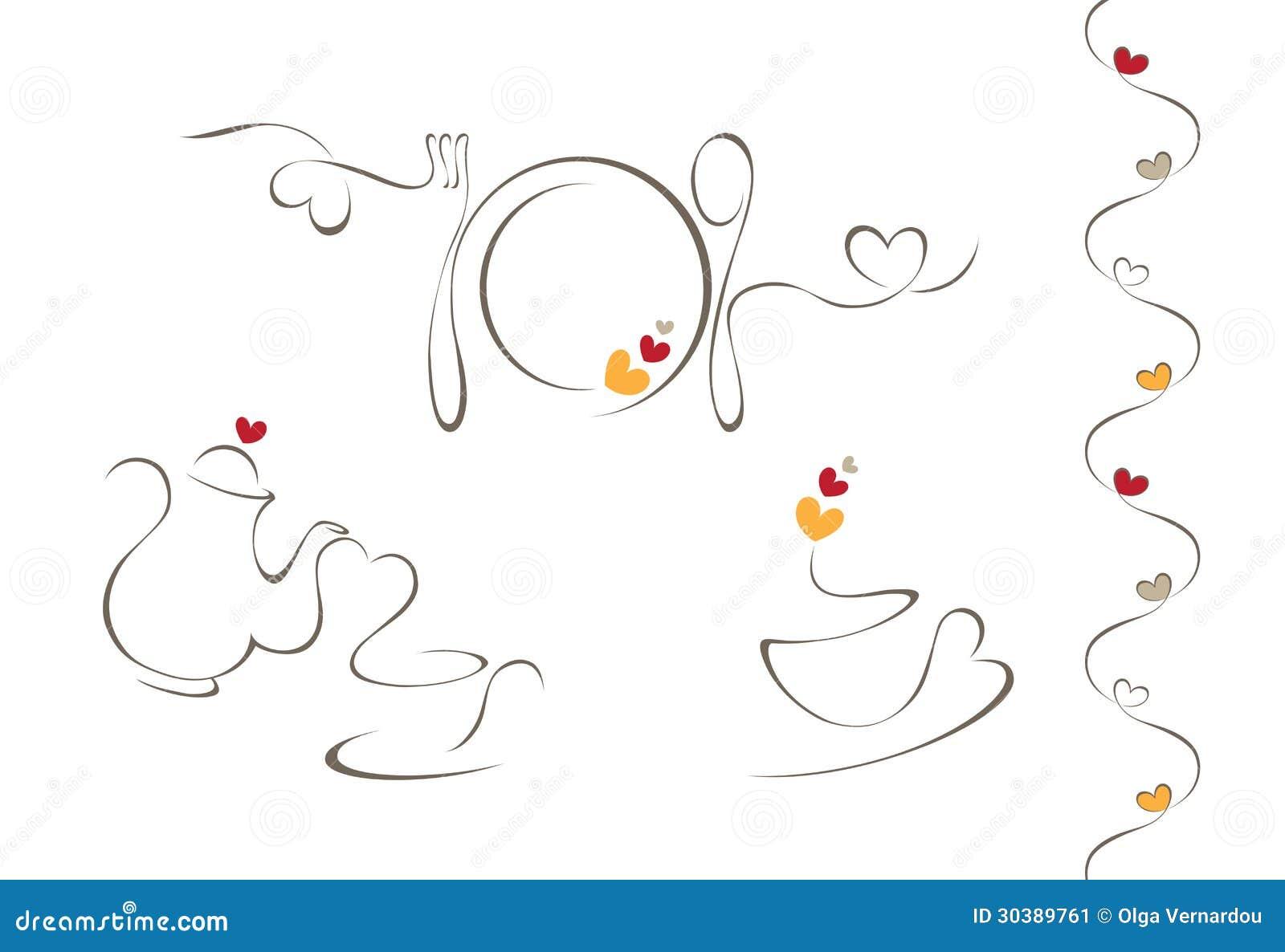 De pictogrammen van het hartmenu