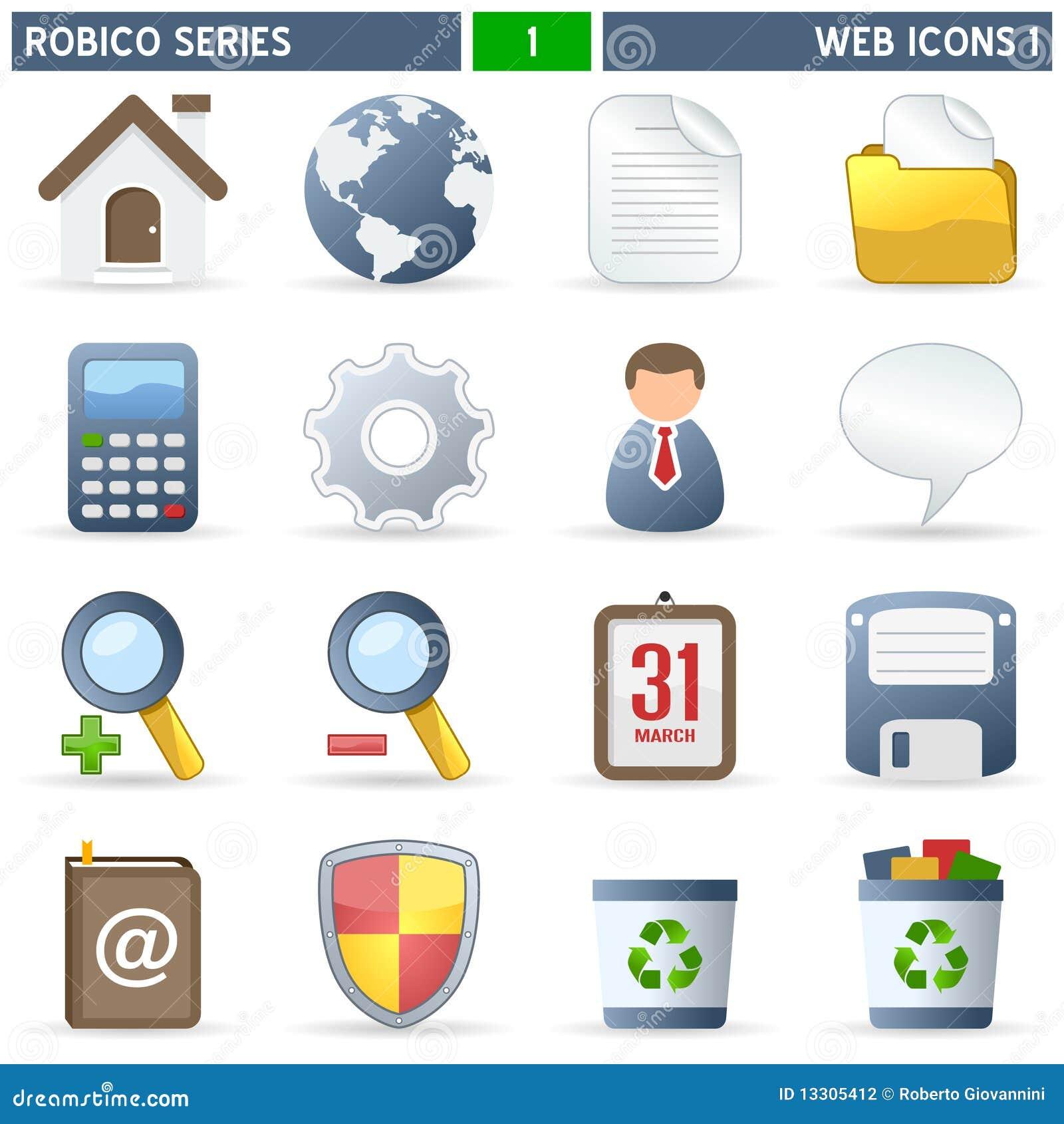 De Pictogrammen van het Web [1] - Reeks Robico