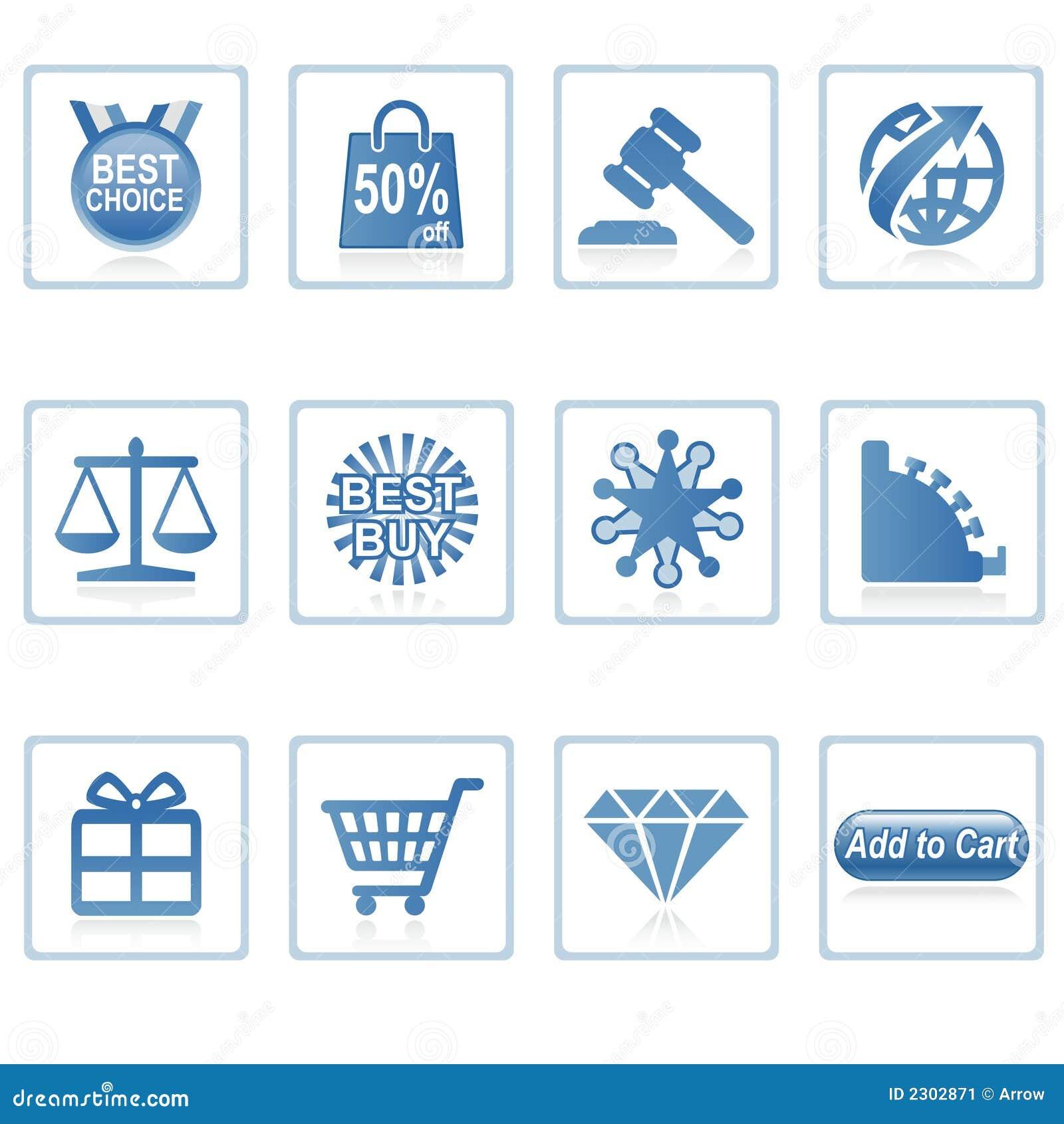 De pictogrammen van het Web: Online Winkelende 2