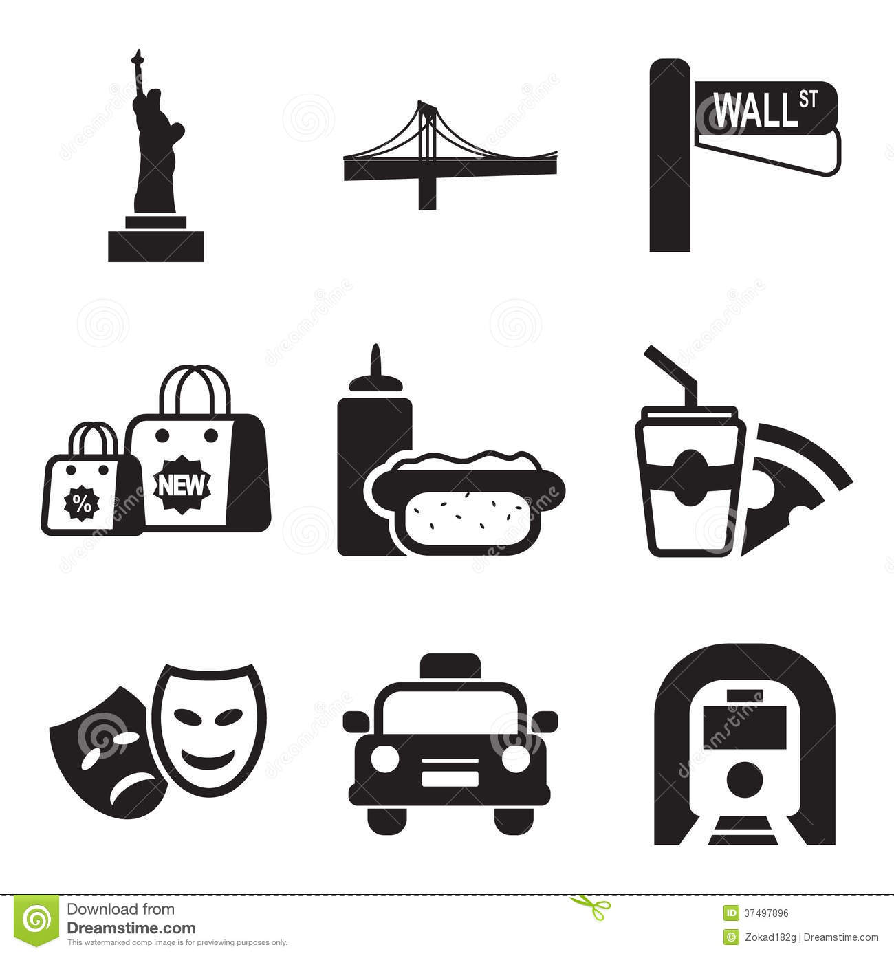 De Pictogrammen van New York