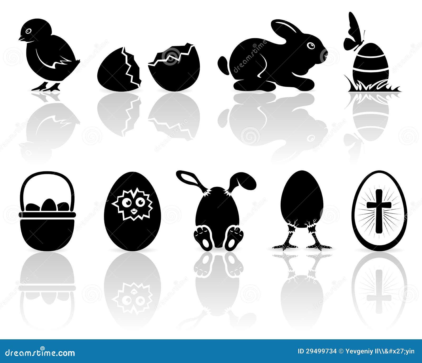 De pictogrammen van pasen vector illustratie afbeelding bestaande uit gebarsten 29499734 - Baby voet verkoop ...