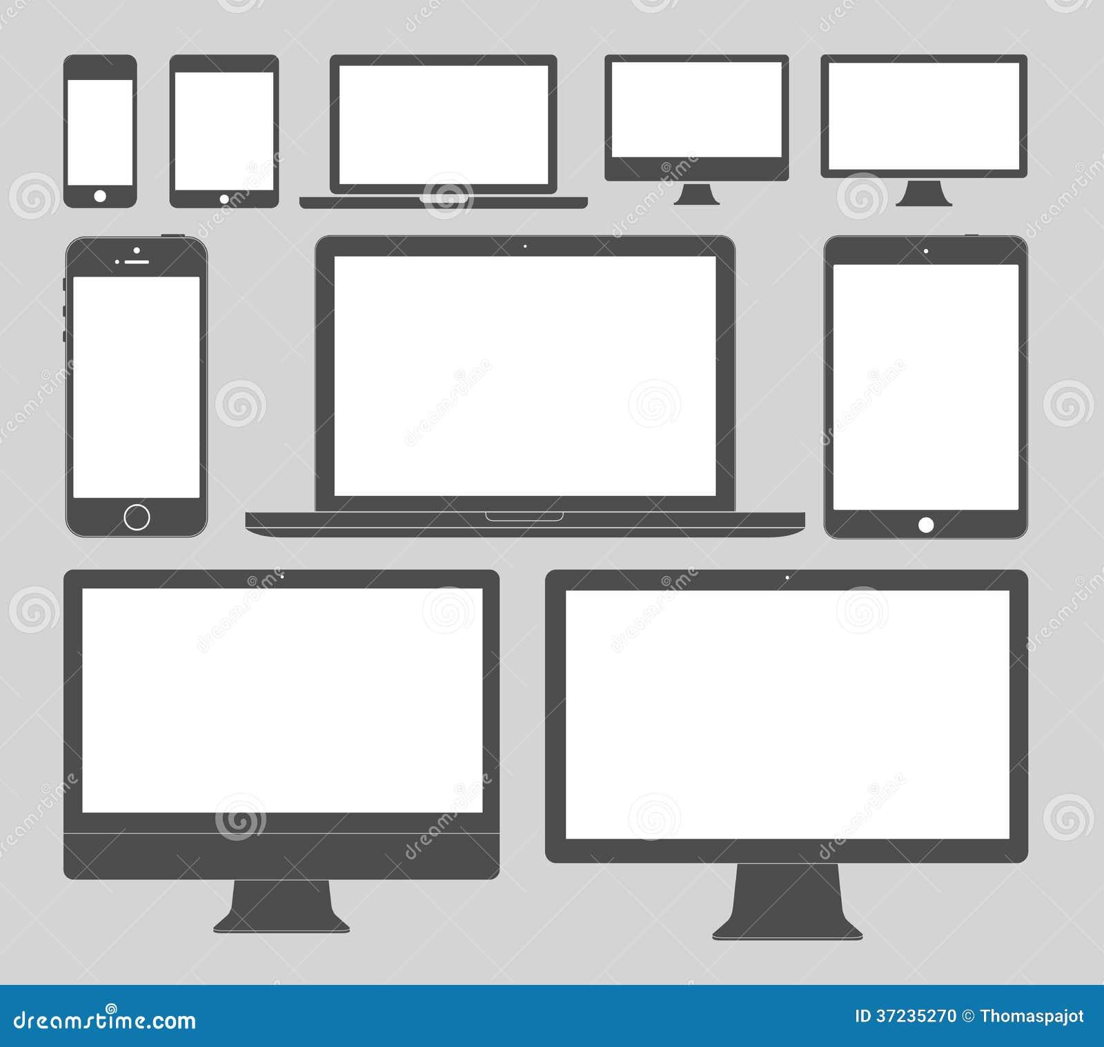 De Pictogrammen van vertoningsapparaten