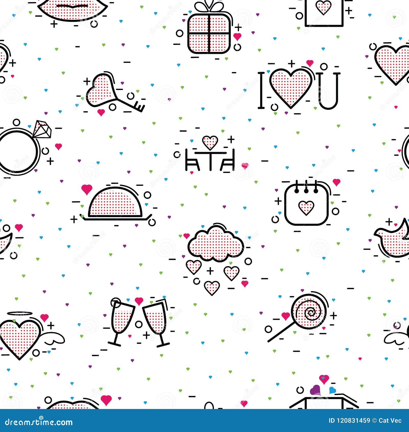 De pictogrammen vectorhart van de valentijnskaartendag in liefde en mooi rood teken op hearted viering en groetkaart met het houd