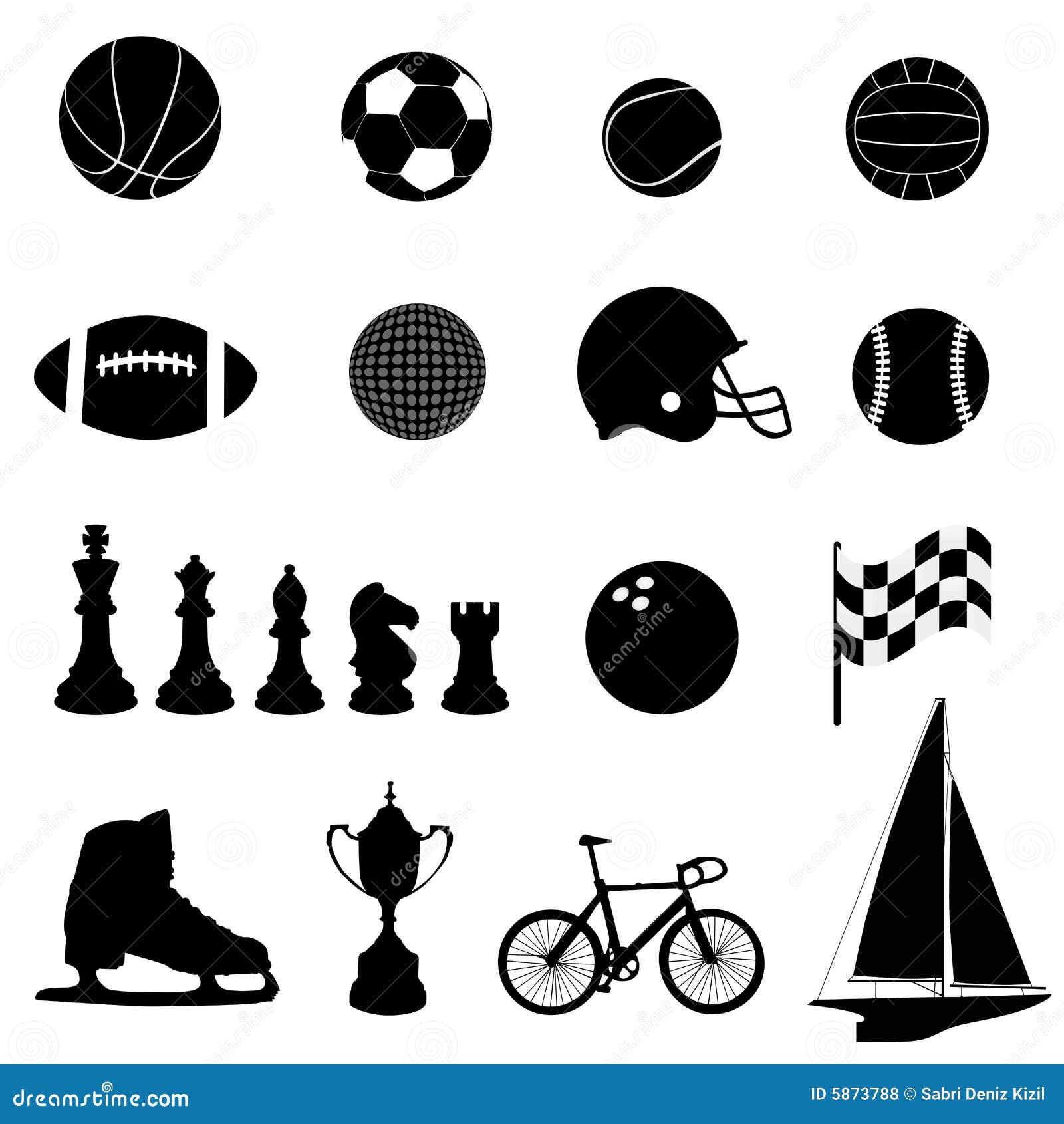 De pictogrammenvector van de sport