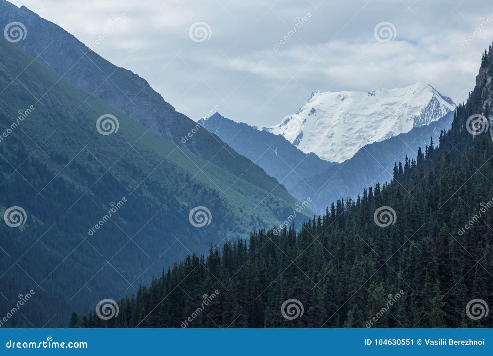 Download De Piek Van Het Palatkaijs In Kyrgyzstan Stock Afbeelding - Afbeelding bestaande uit hemel, waaier: 104630551