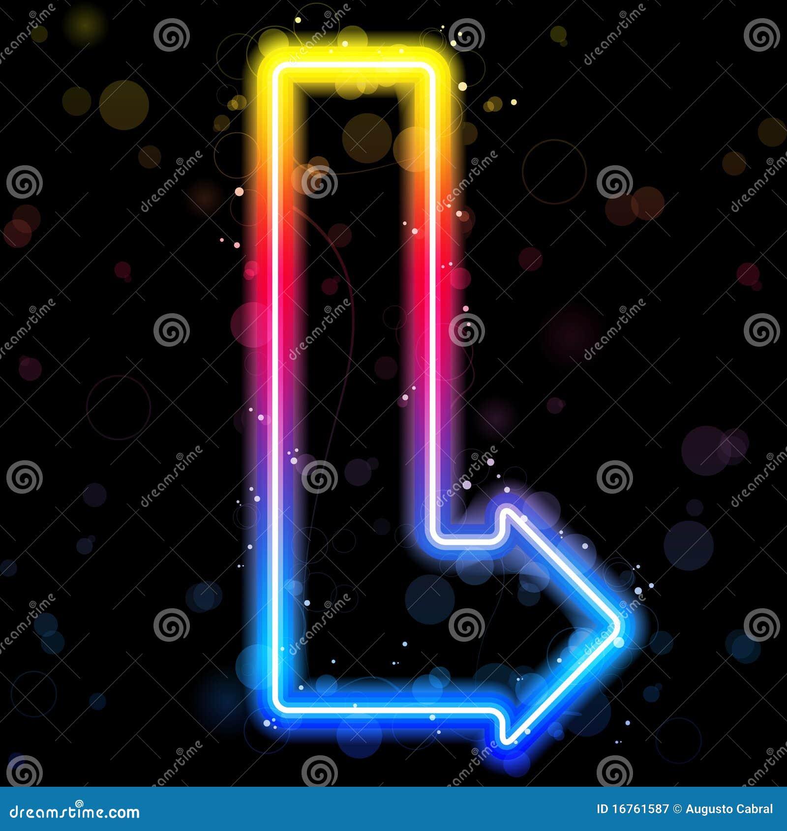 De Pijl van het neon met Fonkelingen.