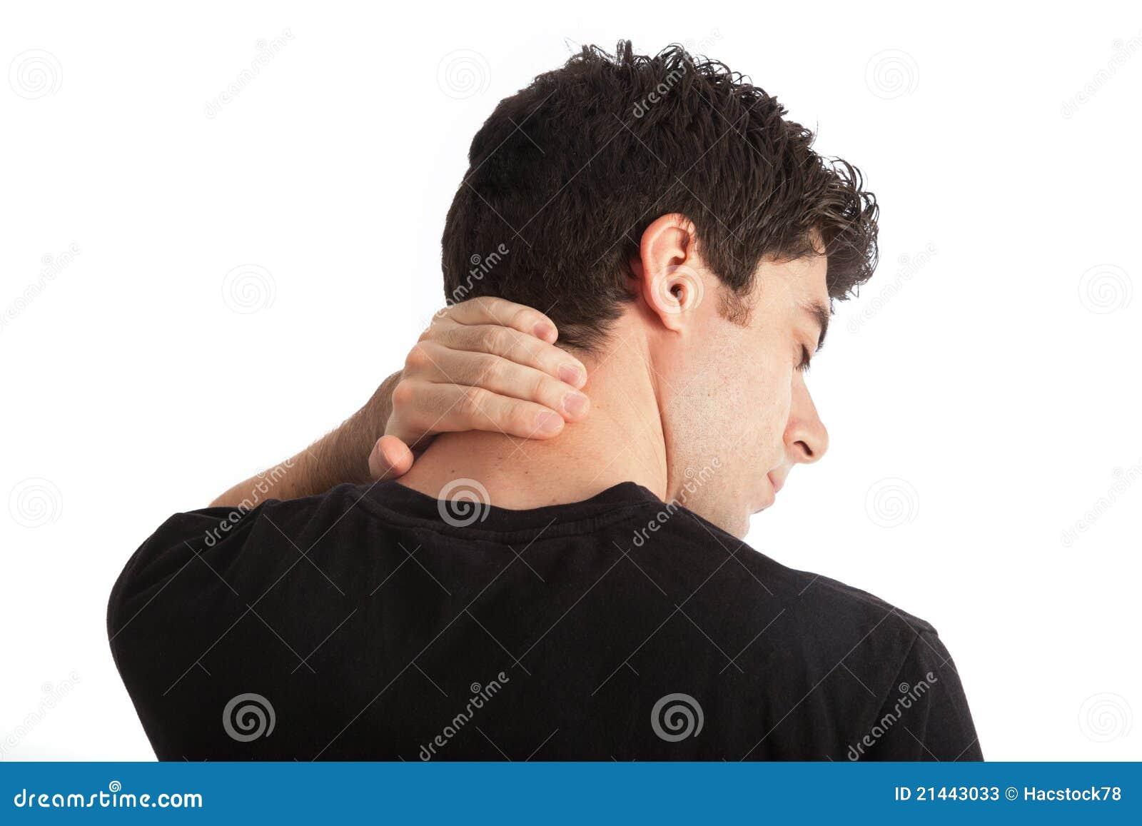 De pijn van de hals