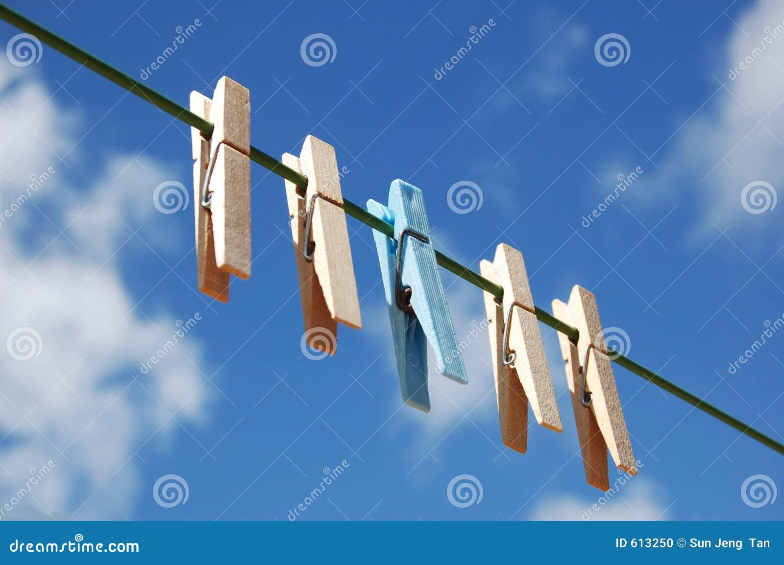 De pinnen van de doek