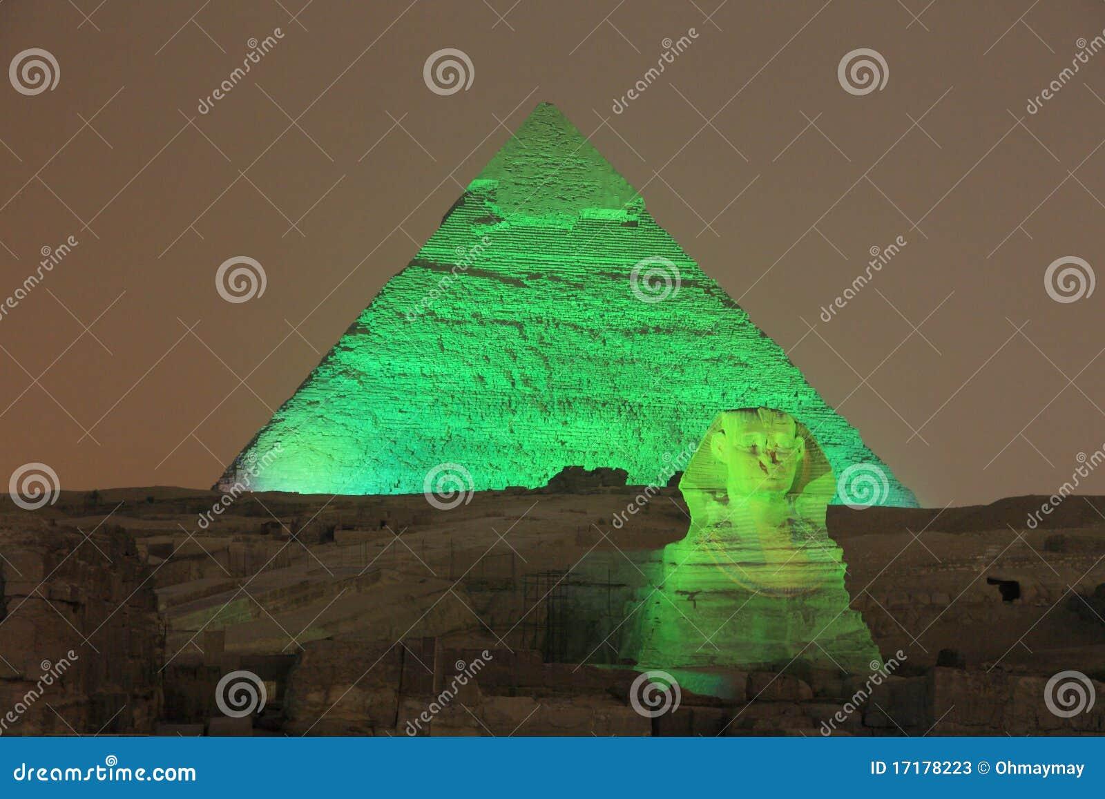 De piramide en de Sfinx van Giza