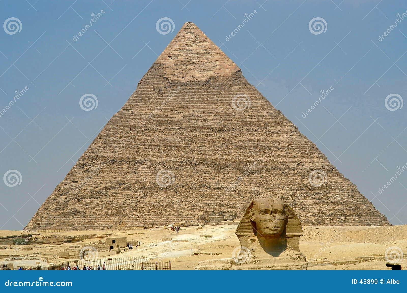 De piramide en Sphynx van Cheope
