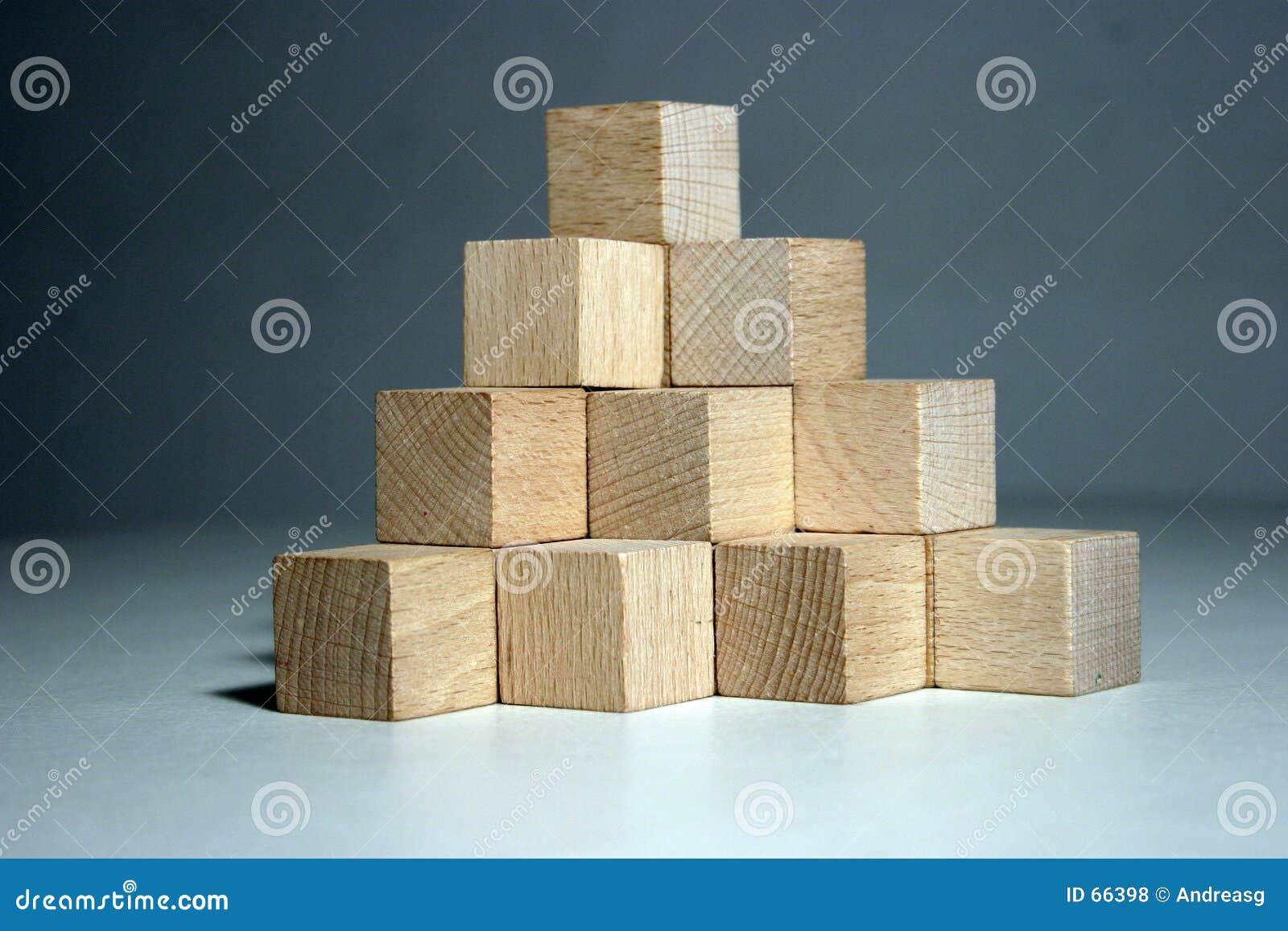 De piramide van het blok